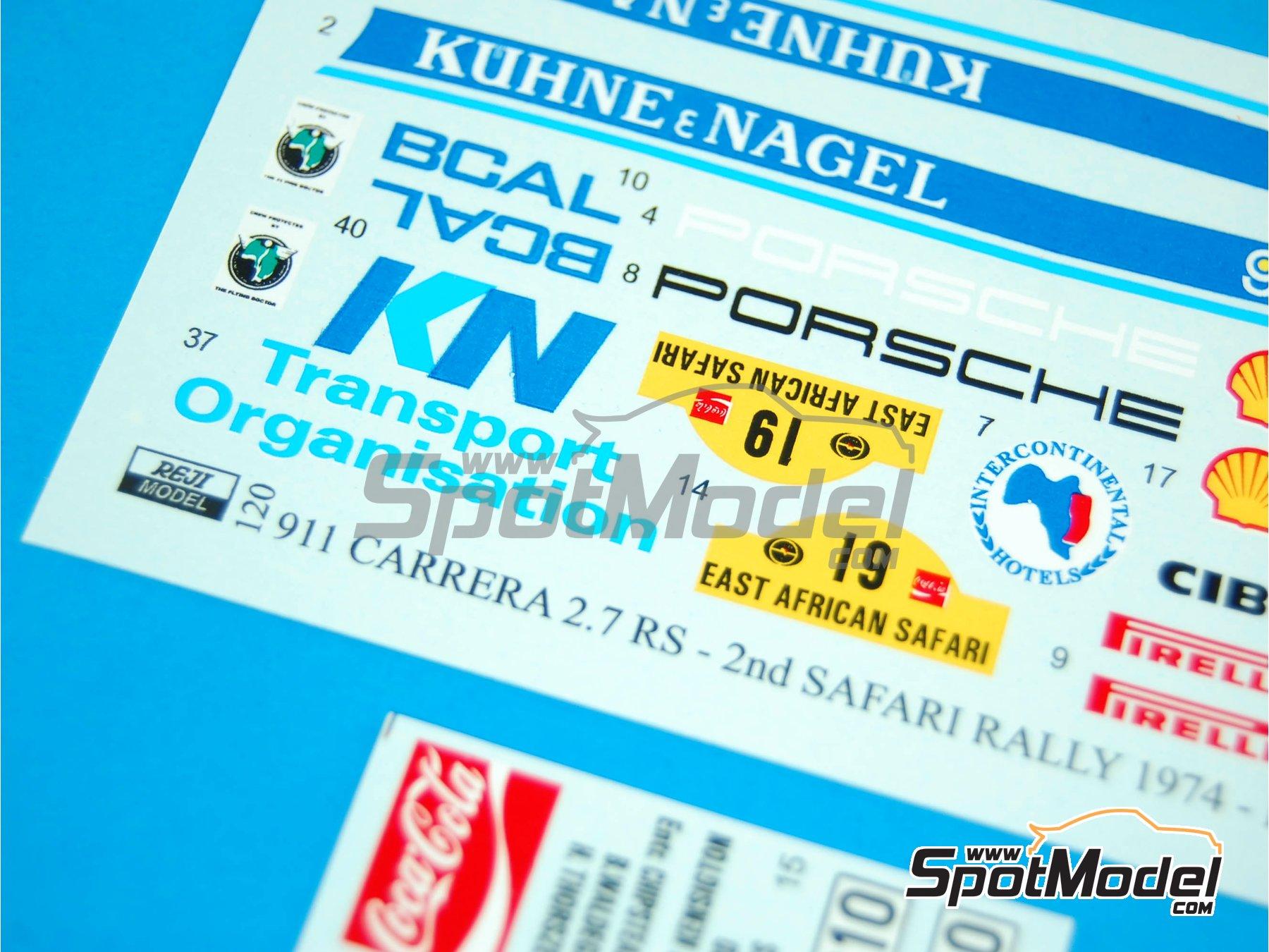 Image 5: Porsche 911 2.7 RS Nakufreight - Rally Safari 1974 | Decoración en escala1/24 fabricado por Reji Model (ref.REJI-120)