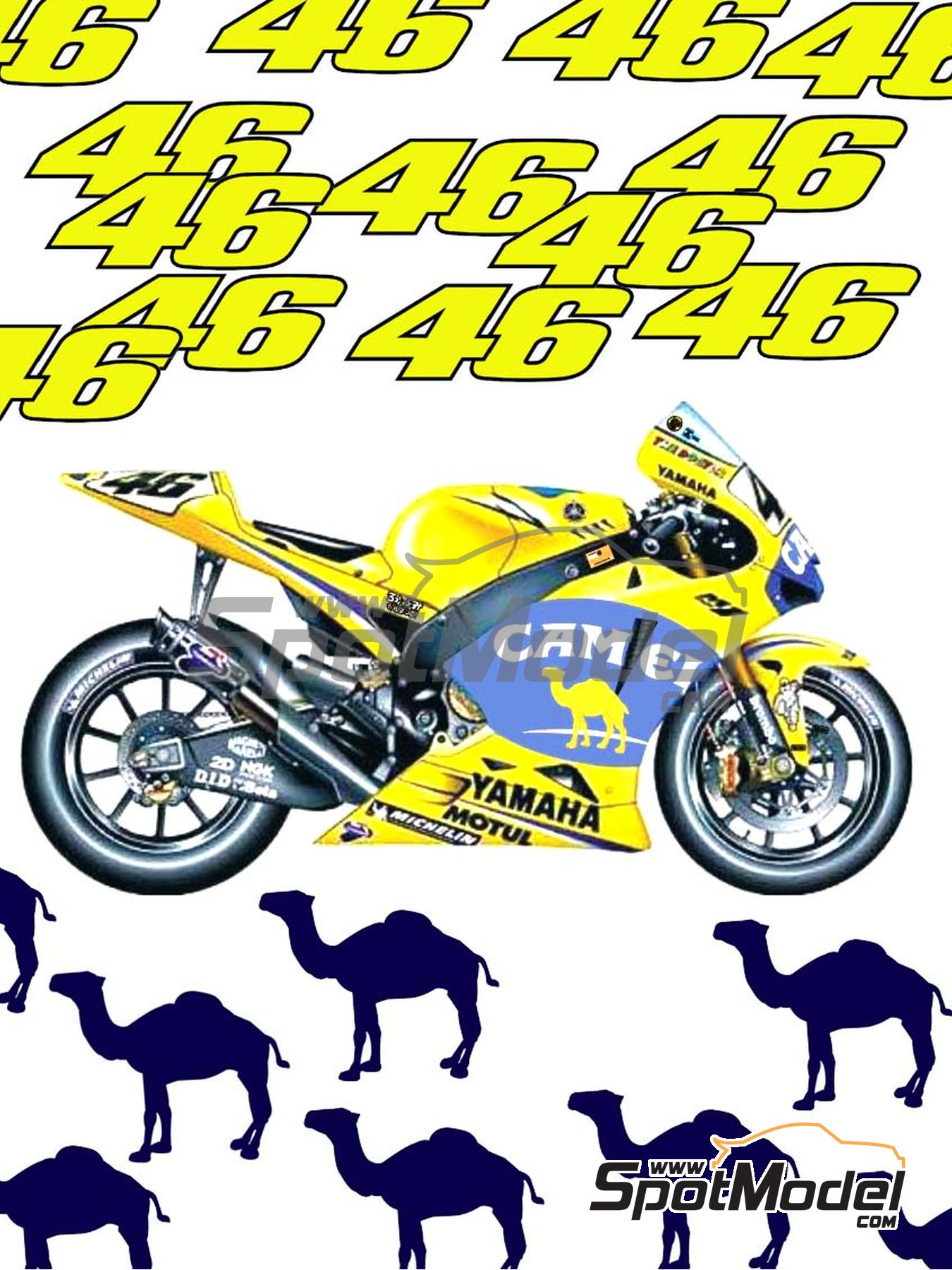 Yamaha YZR M1 Camel - Motorcycle World Championship 2006 | Marking / livery in 1/12 scale manufactured by Reji Model (ref. REJI-128) image