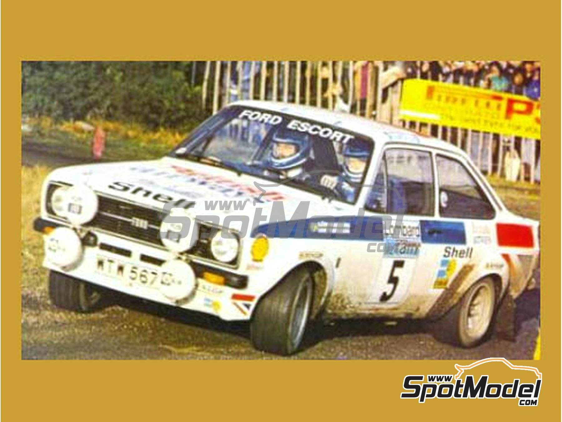 Image 1: Ford Escort Mk. II British Airways - Great Britain RAC Rally 1977 | Marking / livery in 1/24 scale manufactured by Reji Model (ref. REJI-153)