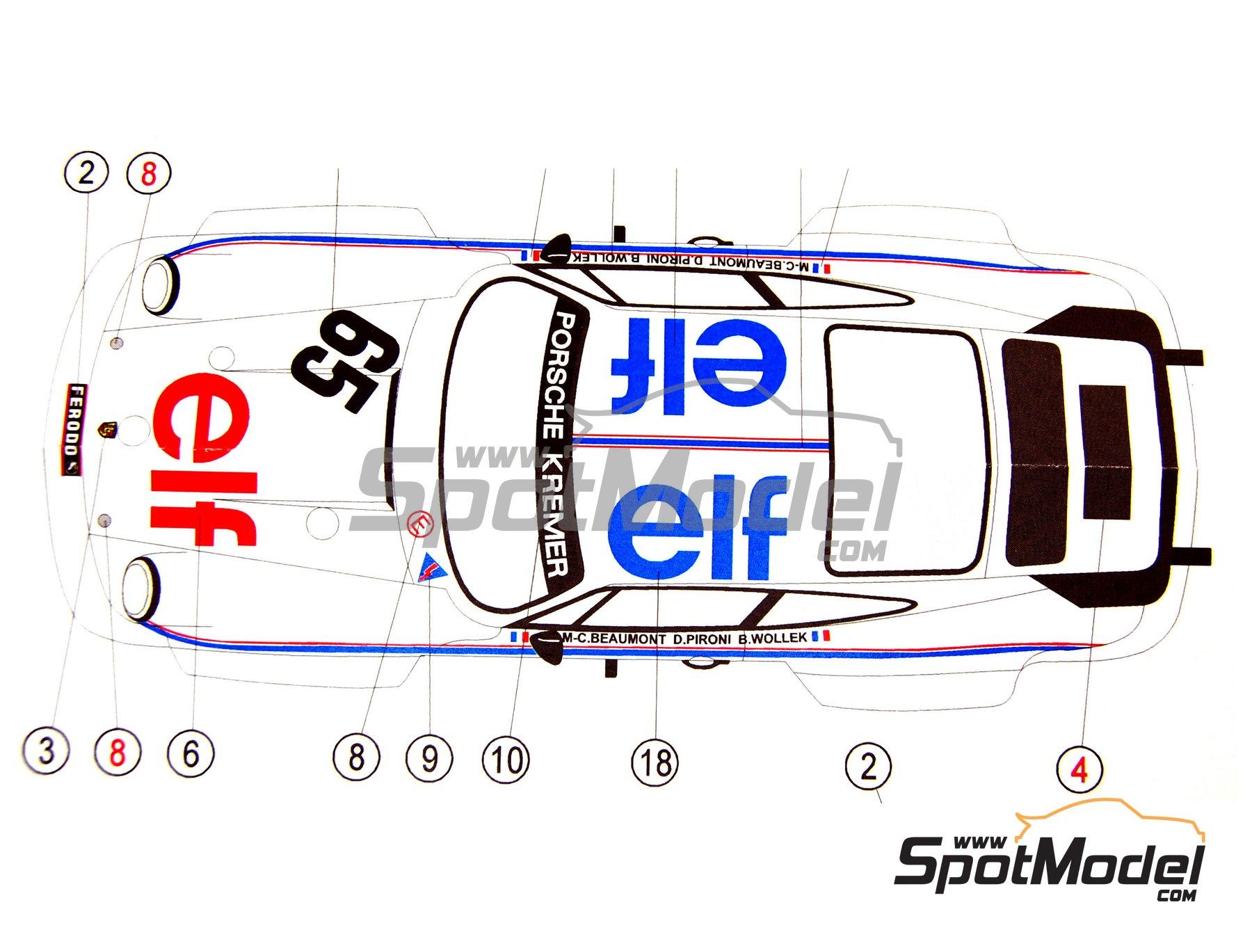 Image 2: Porsche 934 Turbo RSR Grupo 4 ELF - 24 Horas de Le Mans 1976   Decoración en escala1/24 fabricado por Reji Model (ref.REJI-161)