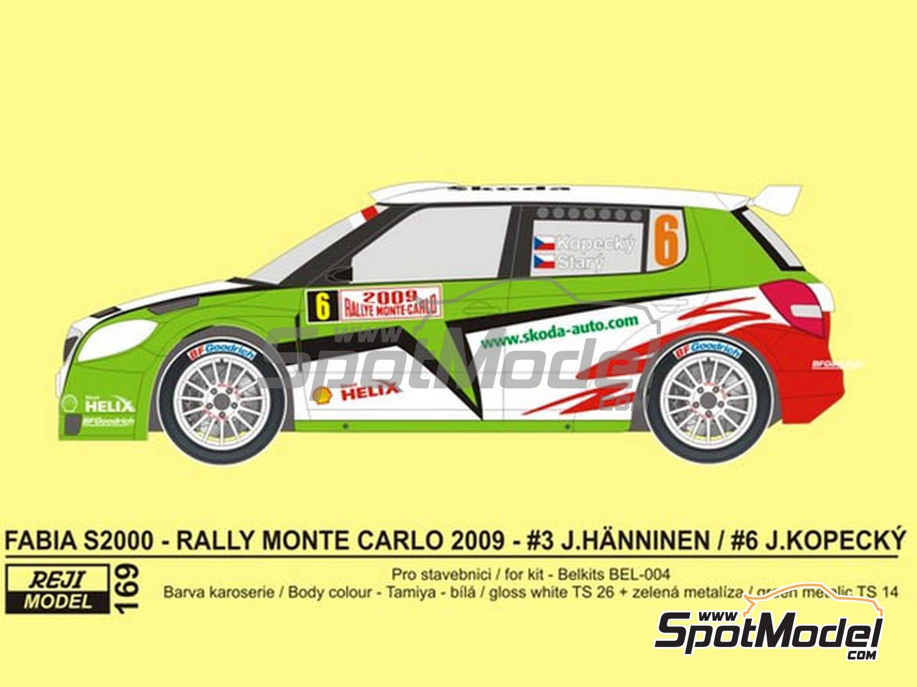 Image 1: Skoda Fabia S2000 Helix - Montecarlo Rally - Rallye Automobile de Monte-Carlo 2009 | Transkit in 1/24 scale manufactured by Reji Model (ref.REJI-169)