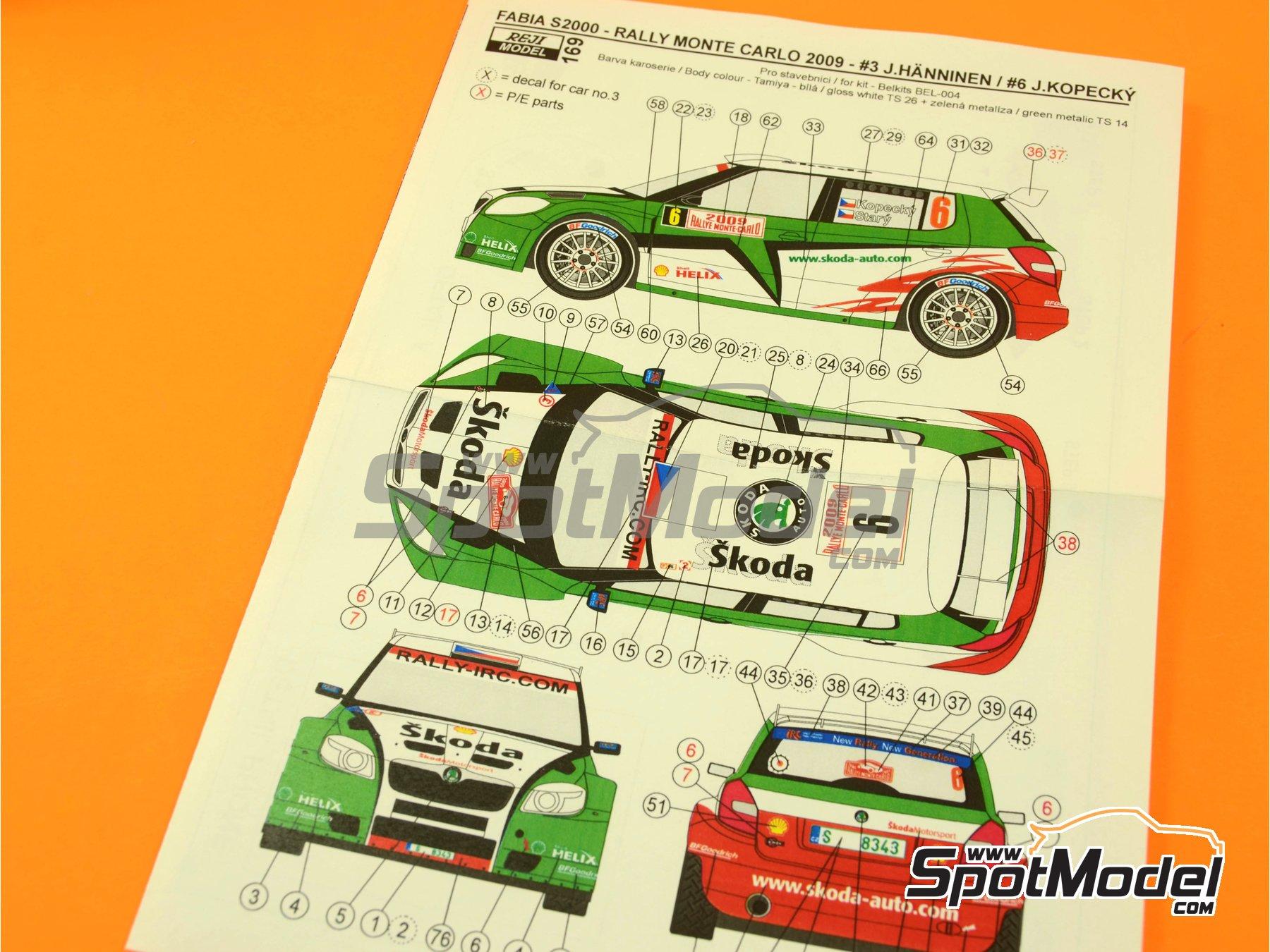 Image 3: Skoda Fabia S2000 Helix - Montecarlo Rally - Rallye Automobile de Monte-Carlo 2009 | Transkit in 1/24 scale manufactured by Reji Model (ref.REJI-169)