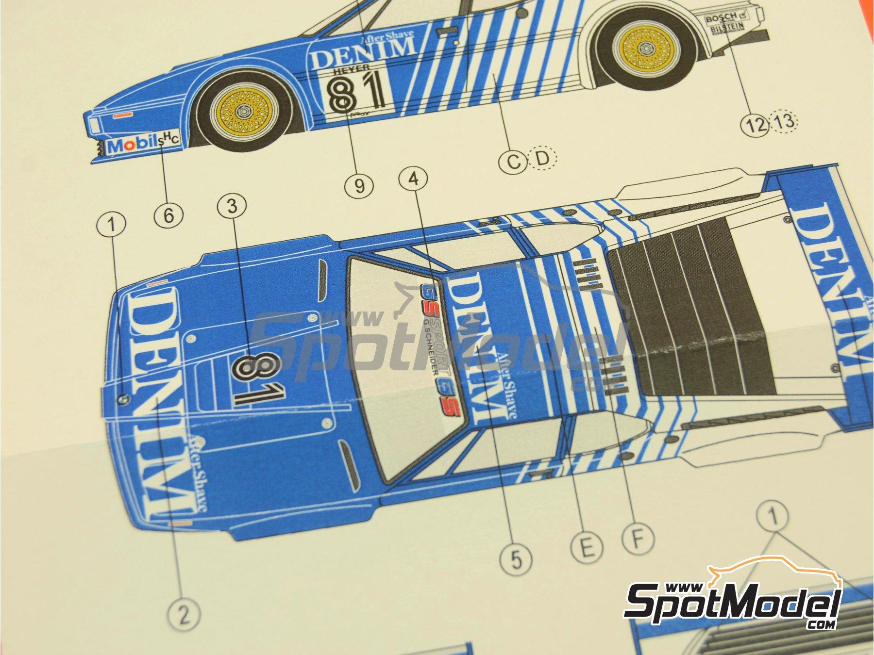 Image 9: BMW M1 Group A Denim Procar - Monaco Formula 1 Grand Prix 1980 | Marking / livery in 1/24 scale manufactured by Reji Model (ref.REJI-172)