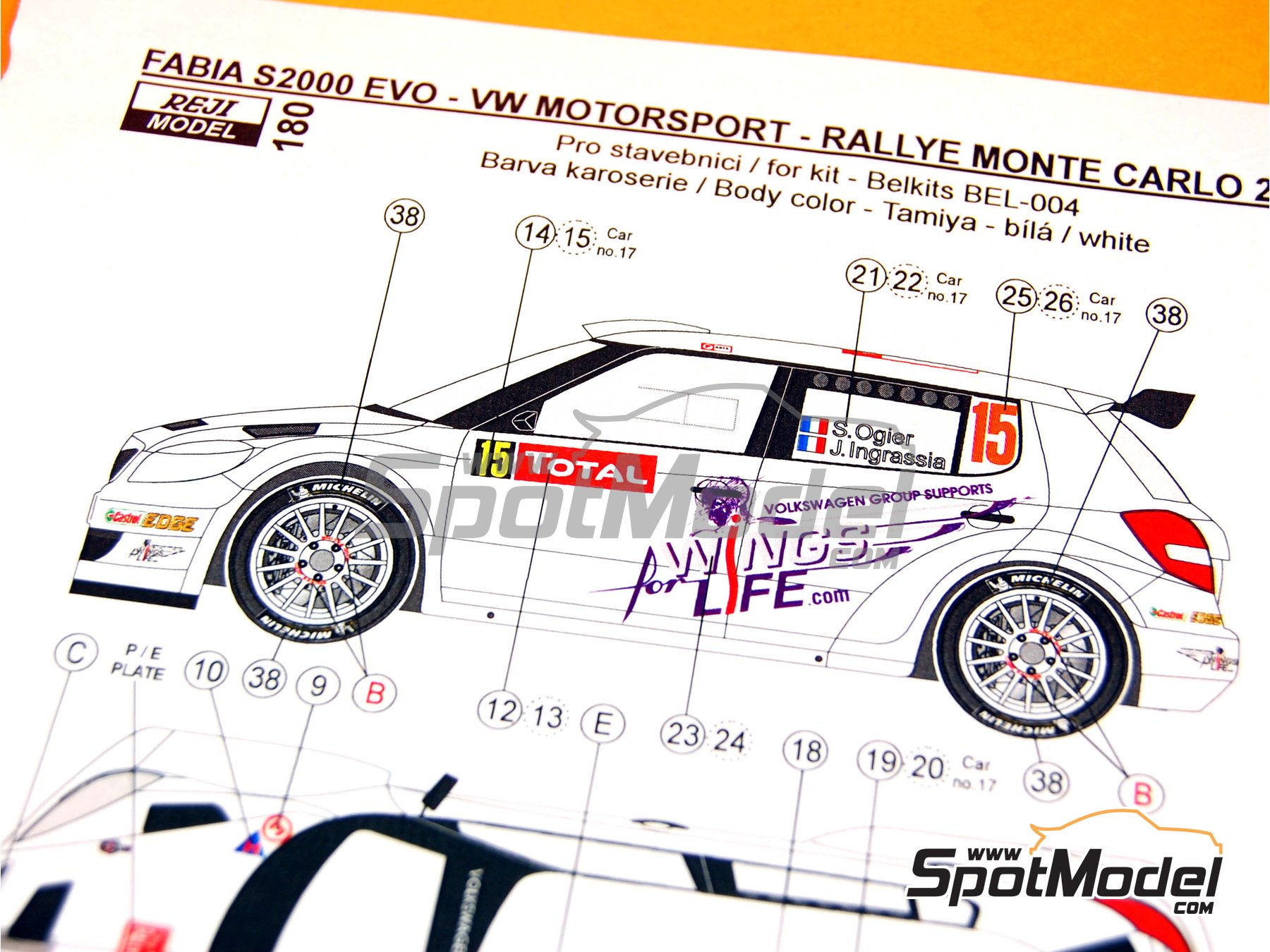 Image 7: Skoda Fabia S2000 Evo VM Motorsport - Montecarlo Rally - Rallye Automobile de Monte-Carlo 2012 | Marking / livery in 1/24 scale manufactured by Reji Model (ref. REJI-180)