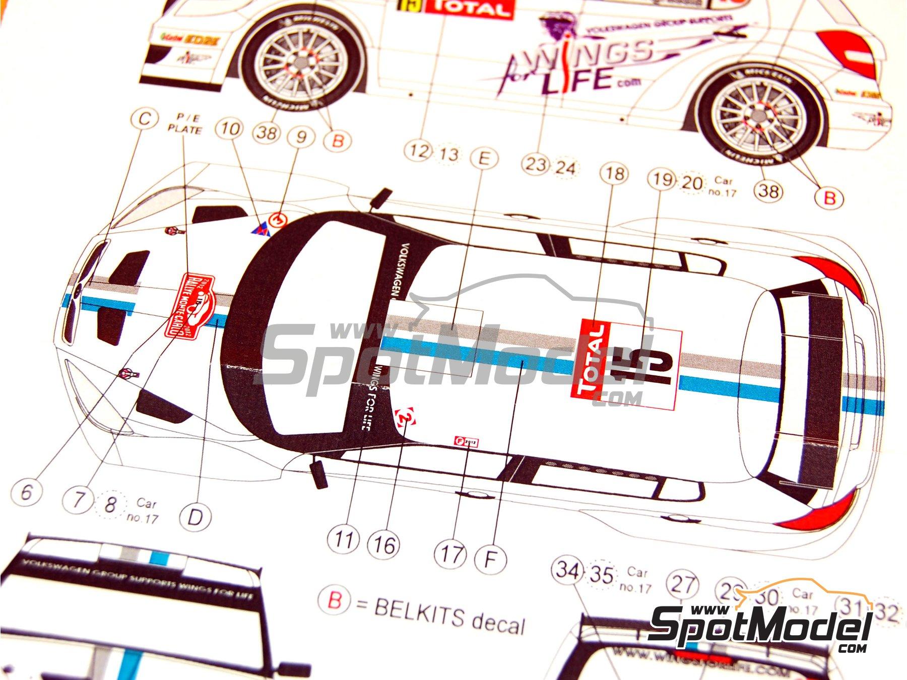 Image 8: Skoda Fabia S2000 Evo VM Motorsport - Montecarlo Rally - Rallye Automobile de Monte-Carlo 2012   Marking / livery in 1/24 scale manufactured by Reji Model (ref.REJI-180)