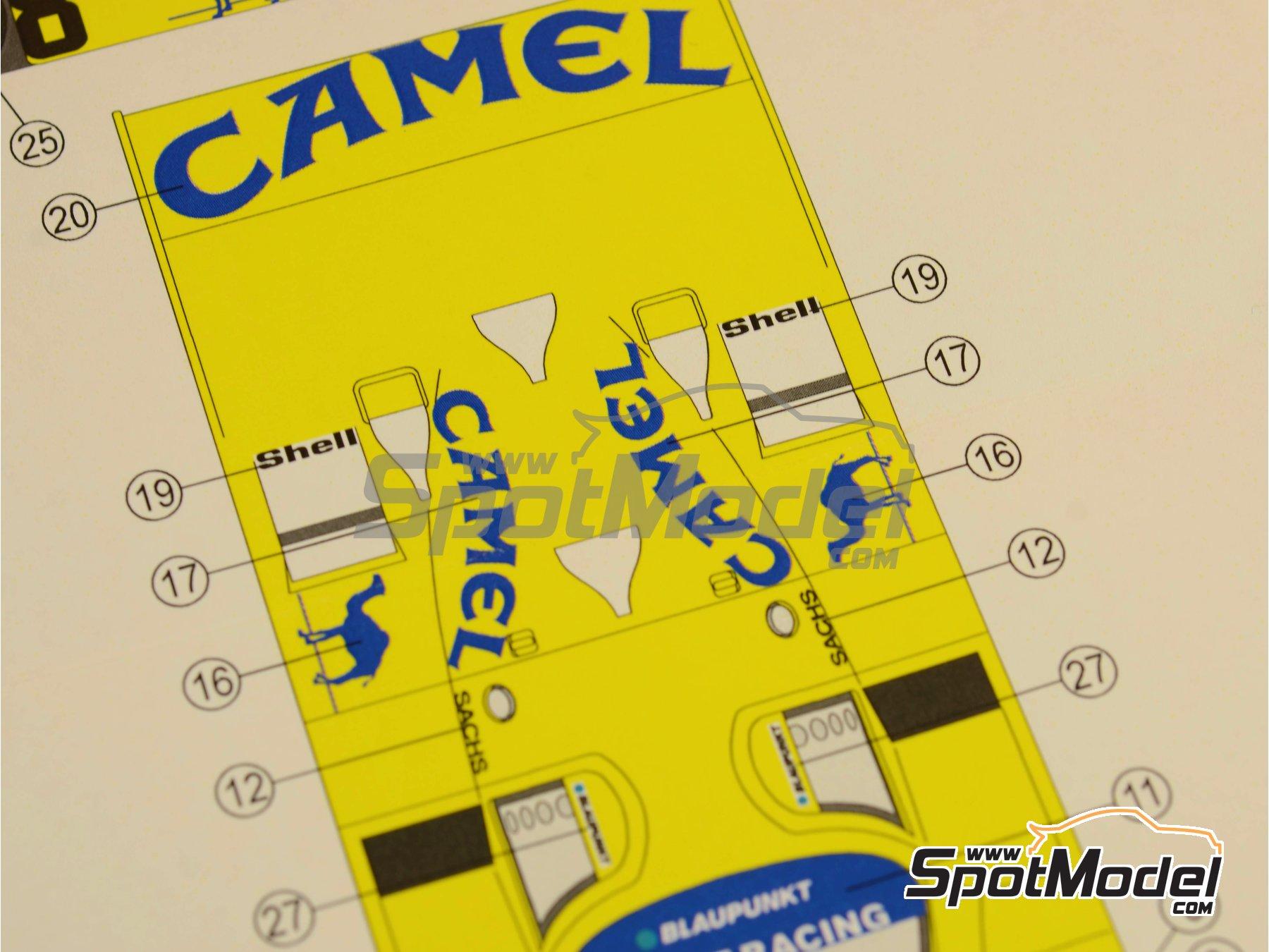 Image 3: Porsche 962C Joest Racing Camel - 500 Km de Kyalami 1987 | Decoración en escala1/24 fabricado por Reji Model (ref.REJI-183)