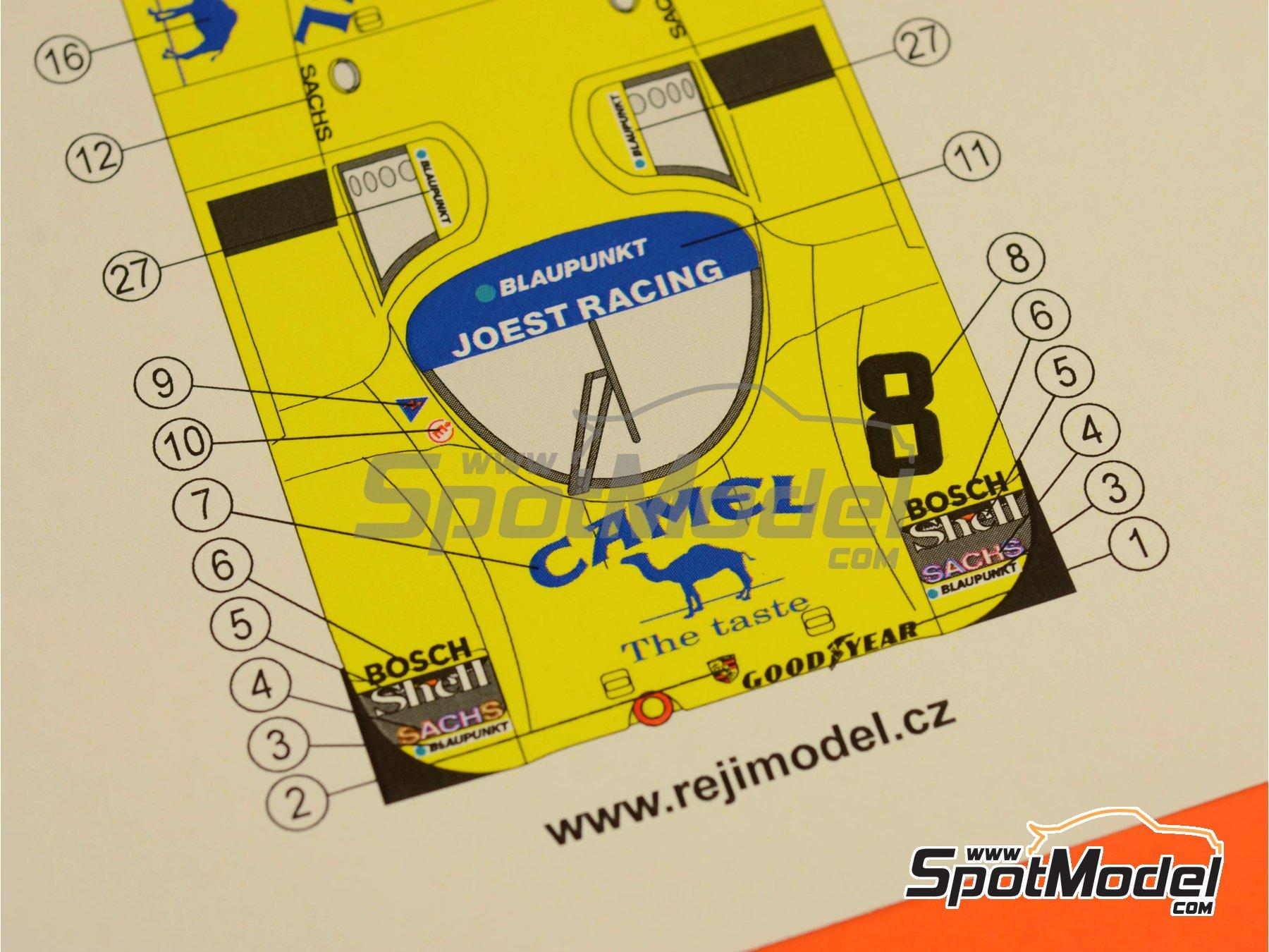 Image 4: Porsche 962C Joest Racing Camel - 500 Km de Kyalami 1987 | Decoración en escala1/24 fabricado por Reji Model (ref.REJI-183)