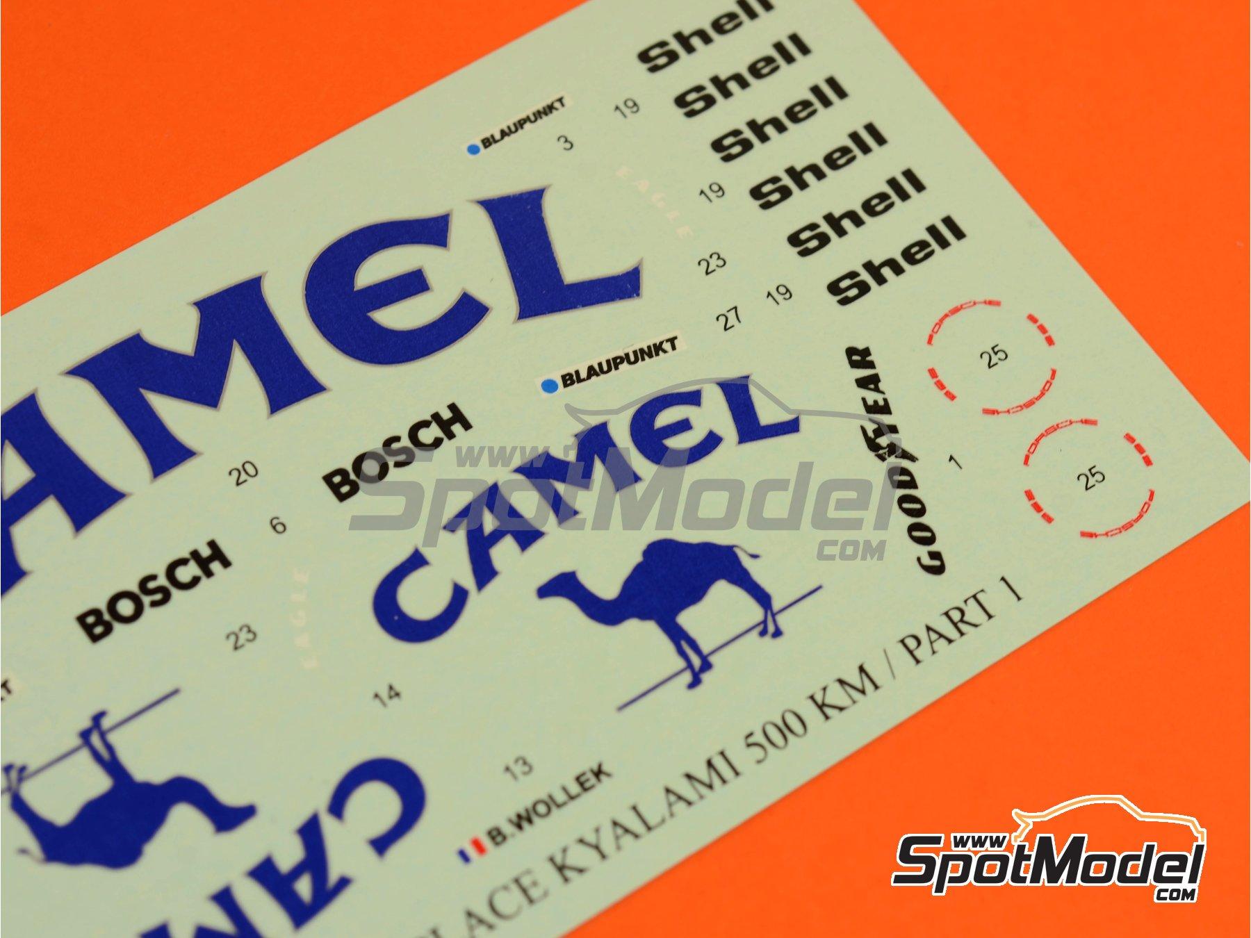 Image 5: Porsche 962C Joest Racing Camel - 500 Km de Kyalami 1987 | Decoración en escala1/24 fabricado por Reji Model (ref.REJI-183)