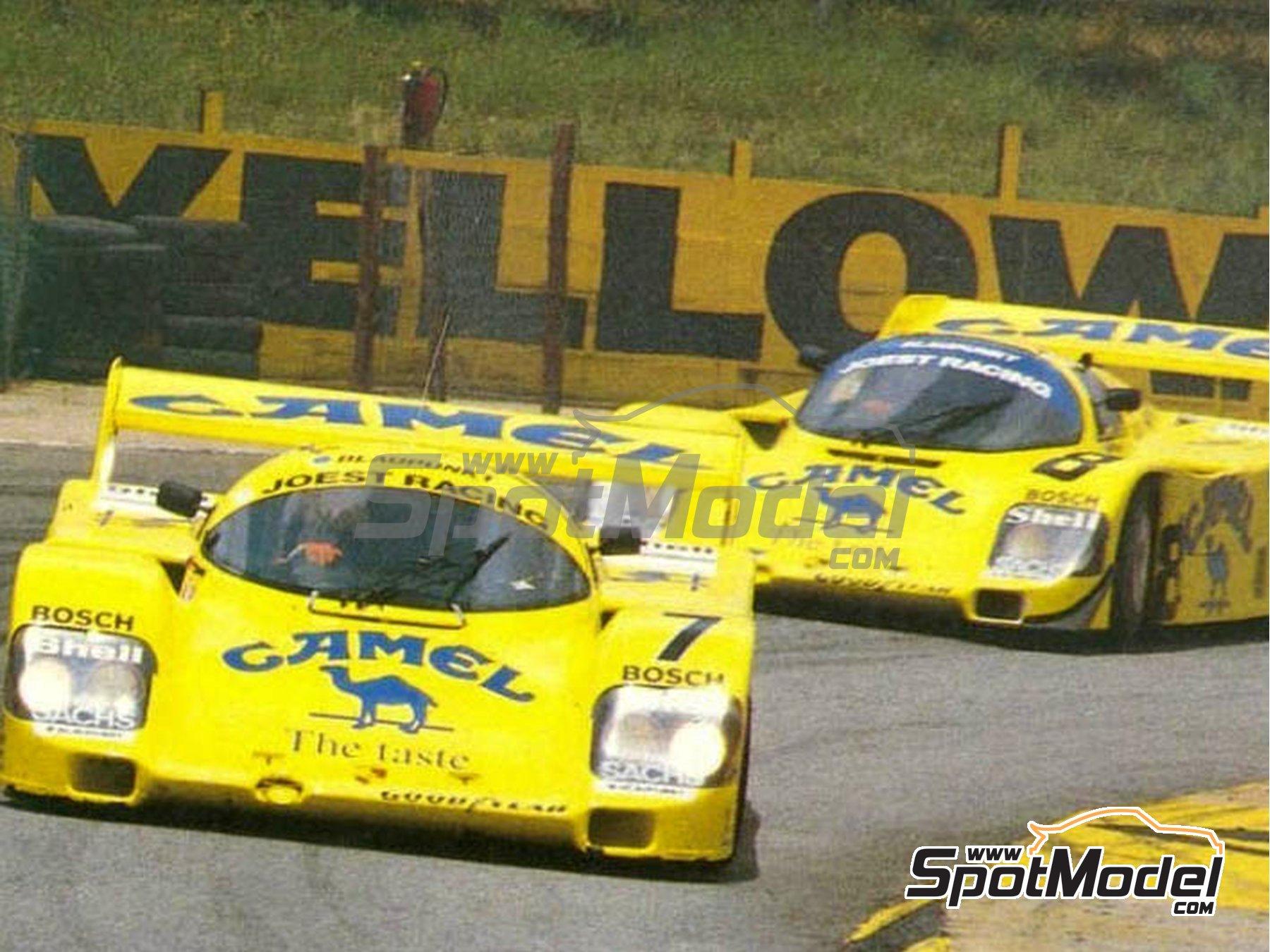 Image 11: Porsche 962C Joest Racing Camel - 500 Km de Kyalami 1987 | Decoración en escala1/24 fabricado por Reji Model (ref.REJI-183)