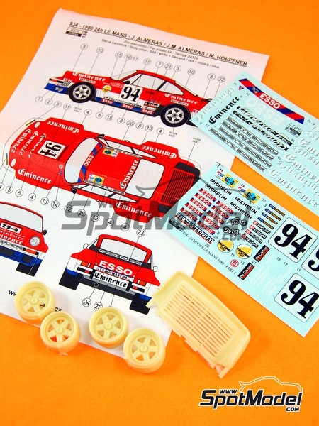 Porsche 934 Turbo RSR Group 4 Eminence Almerass - 24 Hours Le Mans 1980 | Marking / livery in 1/24 scale manufactured by Reji Model (ref.REJI-184) image
