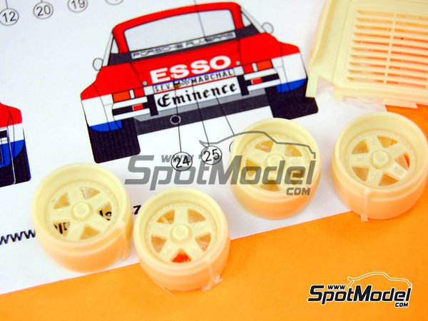 Image 9: Porsche 934 Turbo RSR Group 4 Eminence Almerass - 24 Hours Le Mans 1980 | Marking / livery in 1/24 scale manufactured by Reji Model (ref.REJI-184)