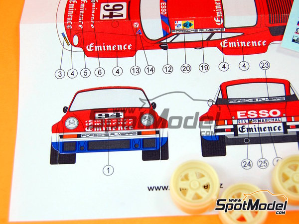 Image 10: Porsche 934 Turbo RSR Group 4 Eminence Almerass - 24 Hours Le Mans 1980 | Marking / livery in 1/24 scale manufactured by Reji Model (ref.REJI-184)