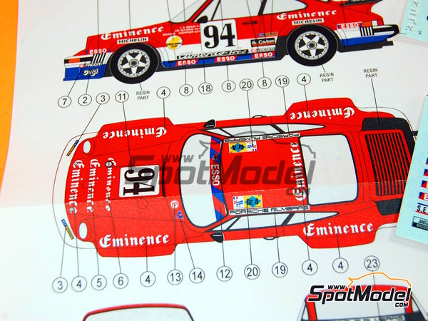 Image 11: Porsche 934 Turbo RSR Group 4 Eminence Almerass - 24 Hours Le Mans 1980 | Marking / livery in 1/24 scale manufactured by Reji Model (ref.REJI-184)