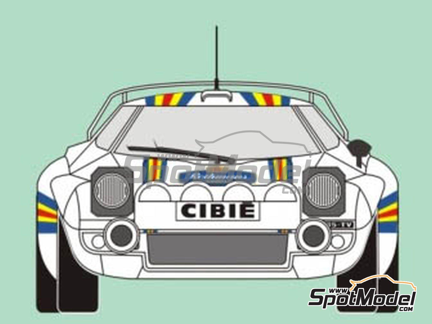 Image 3: Lancia Stratos HF Rothmans - Rally del RACE 1981 | Decoración en escala1/24 fabricado por Reji Model (ref.REJI-187)