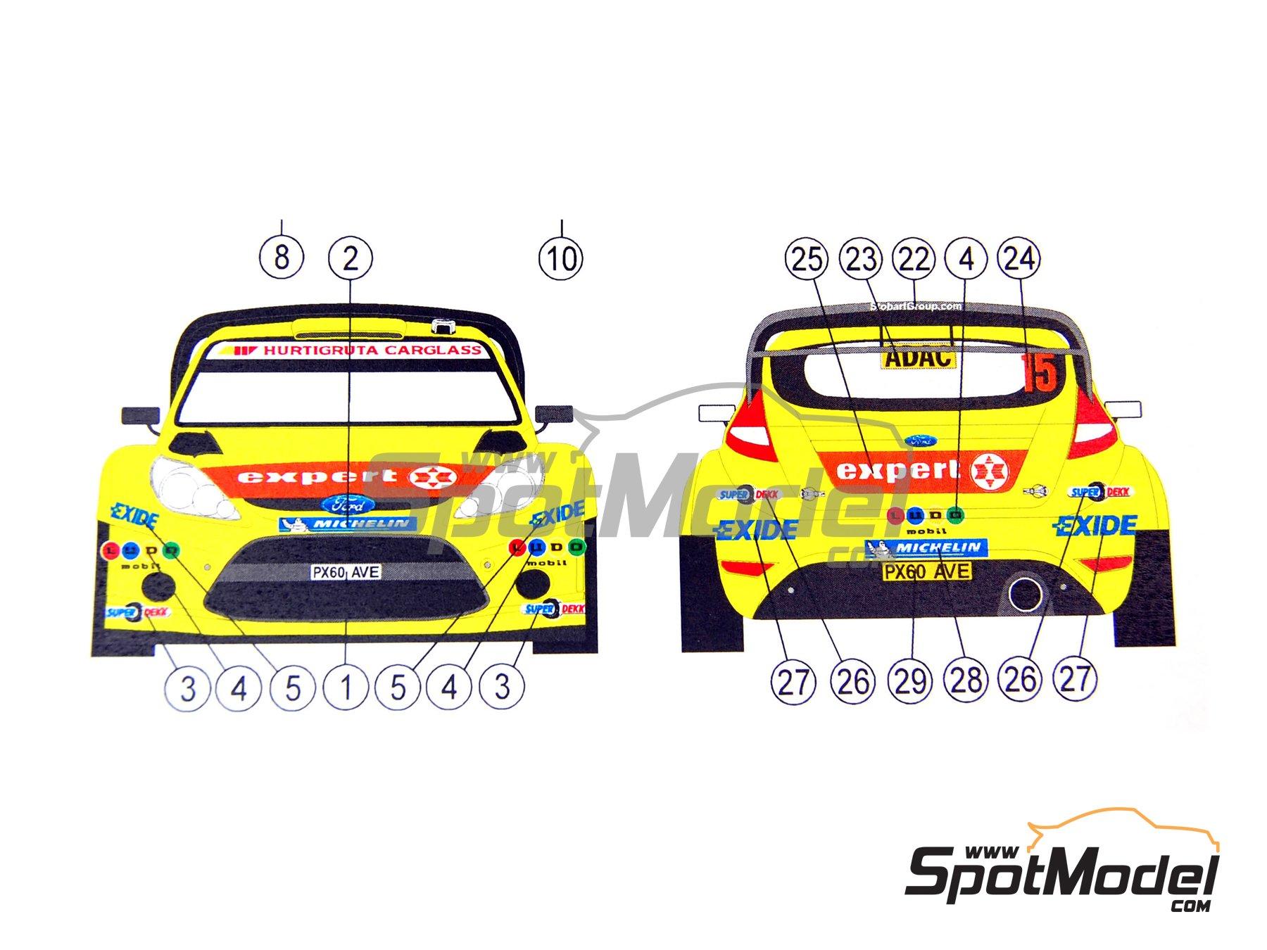 Image 8: Ford Fiesta WRC LUDO Mobil - Rally de Alemania ADAC 2011   Decoración en escala1/24 fabricado por Reji Model (ref.REJI-194)