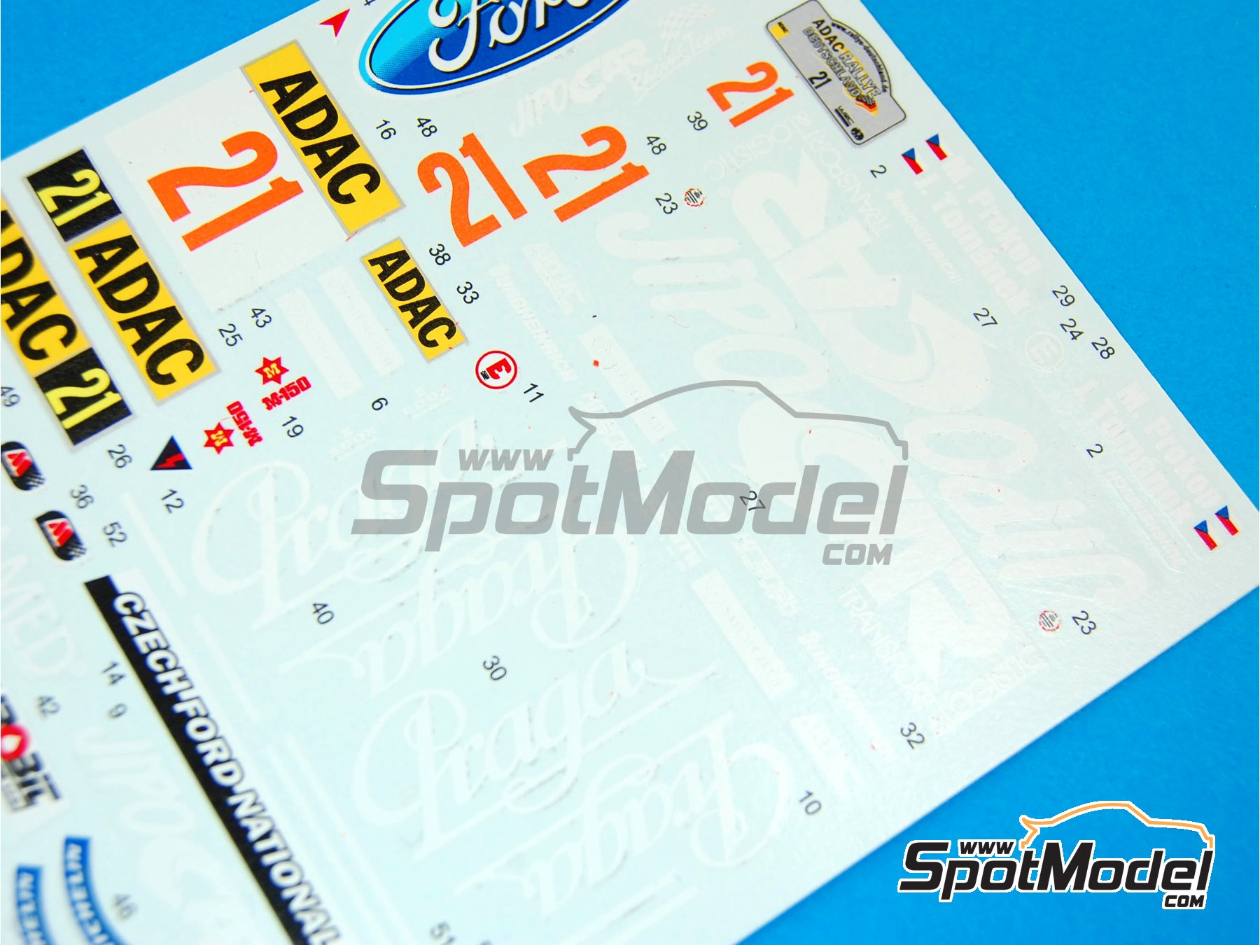 Image 4: Ford Fiesta S2000 Jipo Car - Rally de Alemania ADAC 2011 | Decoración en escala 1/24 fabricado por Reji Model (ref. REJI-195)
