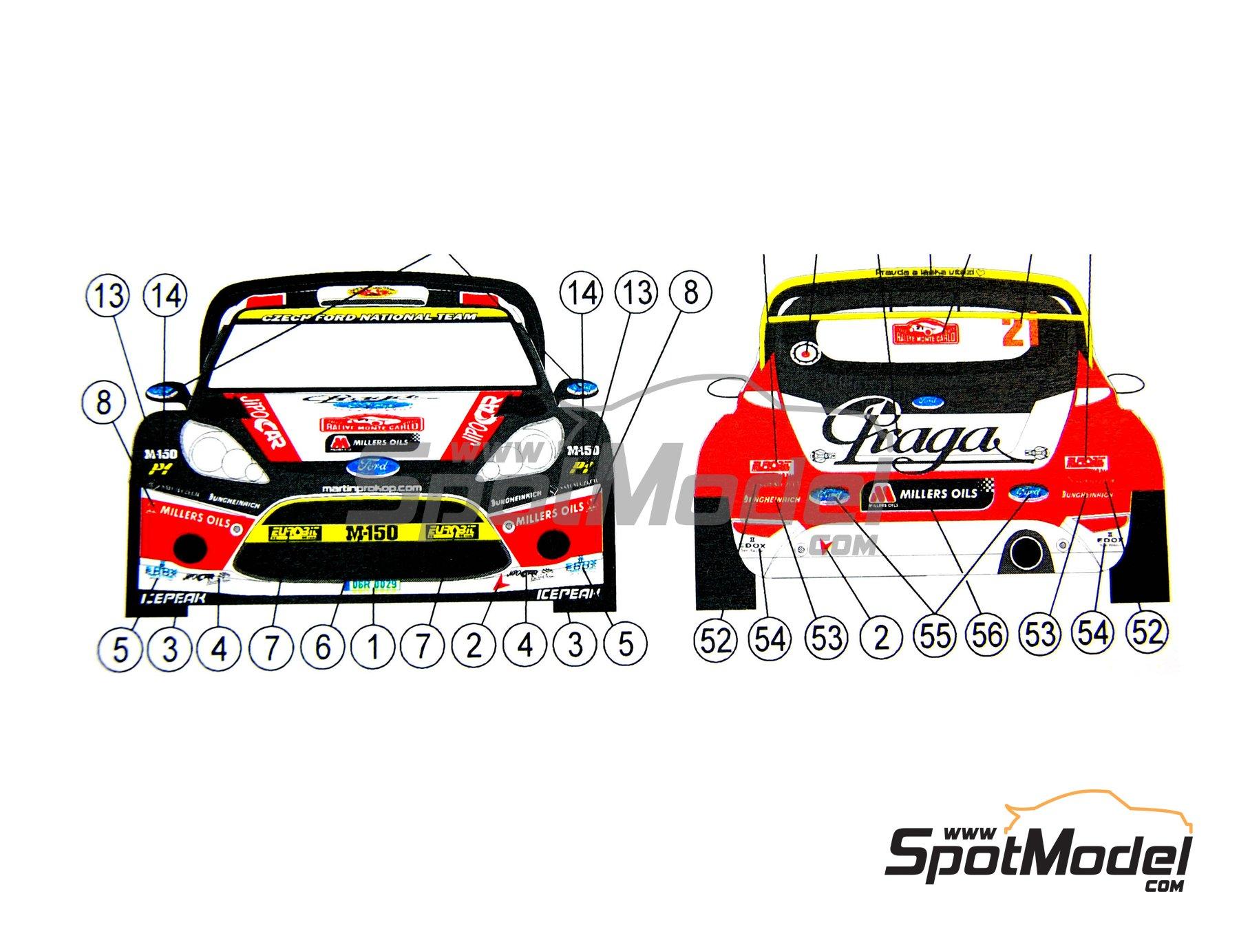 Image 3: Ford Fiesta WRC Jipo Car - Rally de Montecarlo 2012 | Decoración en escala1/24 fabricado por Reji Model (ref.REJI-197)