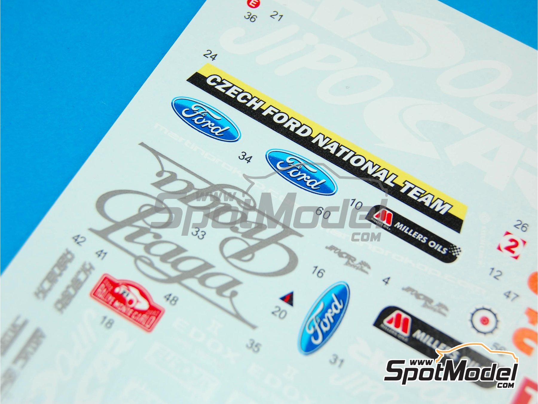 Image 5: Ford Fiesta WRC Jipo Car - Rally de Montecarlo 2012 | Decoración en escala1/24 fabricado por Reji Model (ref.REJI-197)