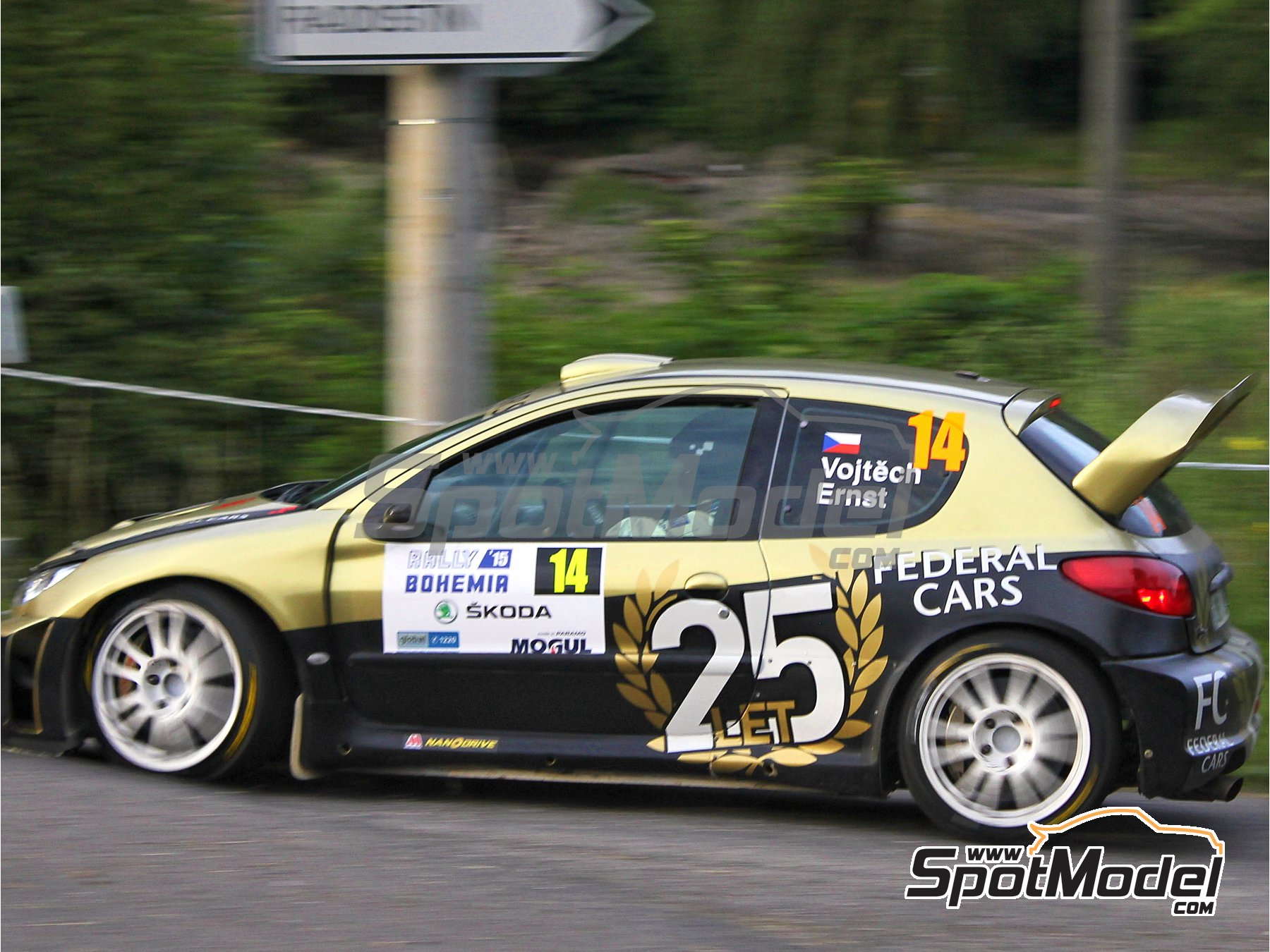 Image 11: Peugeot 206 WRC Federal Cars - Bohemia rally 2015 | Marking / livery in 1/24 scale manufactured by Reji Model (ref.REJI-206)