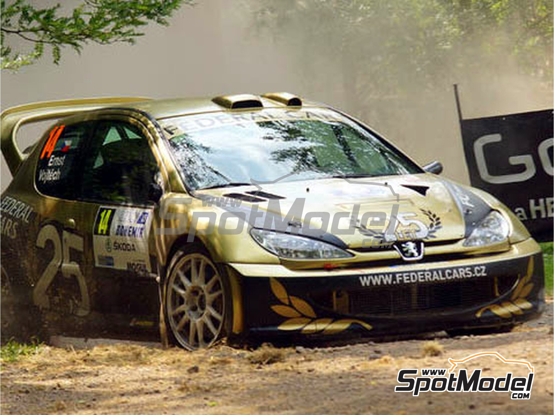 Image 12: Peugeot 206 WRC Federal Cars - Bohemia rally 2015 | Marking / livery in 1/24 scale manufactured by Reji Model (ref.REJI-206)