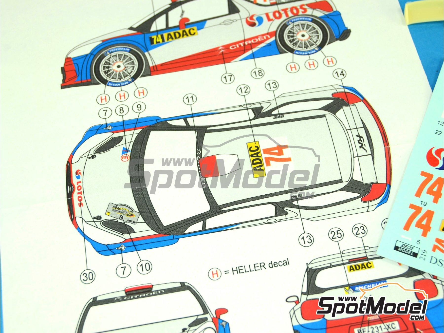 Image 3: Citroen DS3 WRC Lotos - Rally de Alemania ADAC 2013 | Decoración en escala1/24 fabricado por Reji Model (ref.REJI-219)