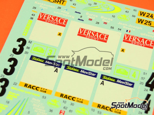Image 3: Subaru Impreza WRC - Catalunya Costa Dorada RACC Rally, Sanremo Rally 2000 | Marking / livery in 1/24 scale manufactured by Reji Model (ref.REJI-225)