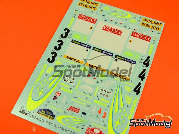 Image 5: Subaru Impreza WRC - Catalunya Costa Dorada RACC Rally, Sanremo Rally 2000 | Marking / livery in 1/24 scale manufactured by Reji Model (ref.REJI-225)