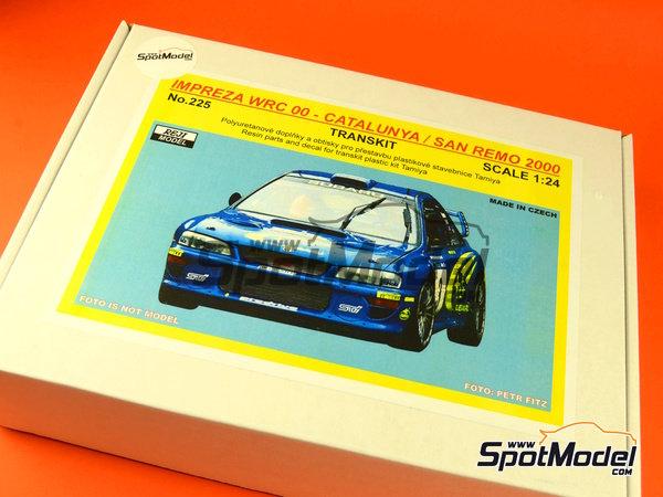 Image 12: Subaru Impreza WRC - Rally de Cataluña Costa Dorada RACC, Rally de San Remo 2000 | Decoración en escala1/24 fabricado por Reji Model (ref.REJI-225)