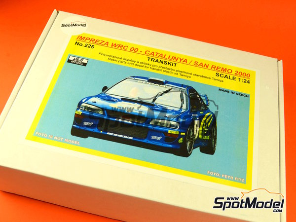 Image 12: Subaru Impreza WRC - Catalunya Costa Dorada RACC Rally, Sanremo Rally 2000 | Marking / livery in 1/24 scale manufactured by Reji Model (ref.REJI-225)