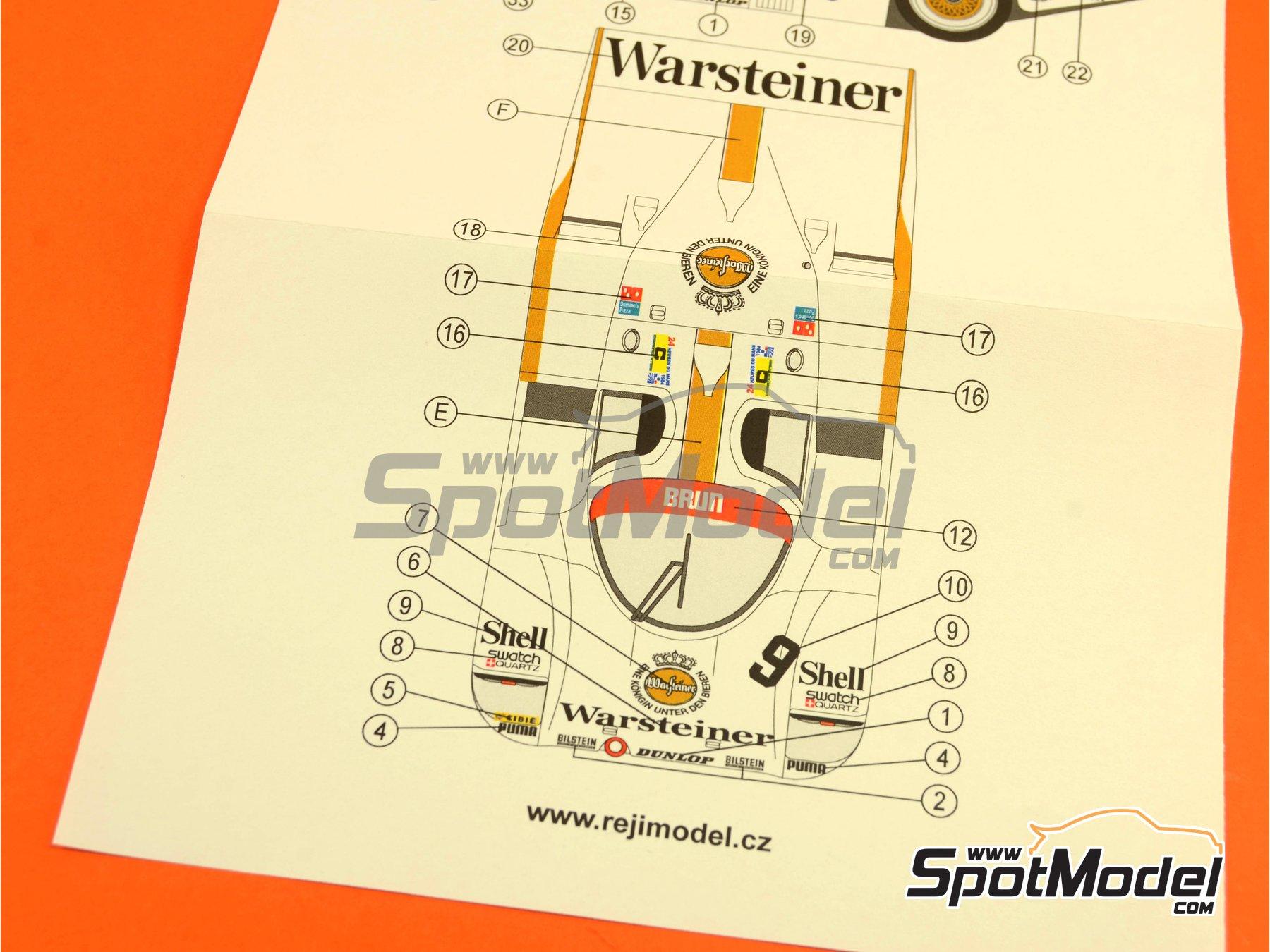 Image 3: Porsche 956 Warsteiner - 24 Horas de Le Mans 1984 | Decoración en escala1/24 fabricado por Reji Model (ref.REJI-230)