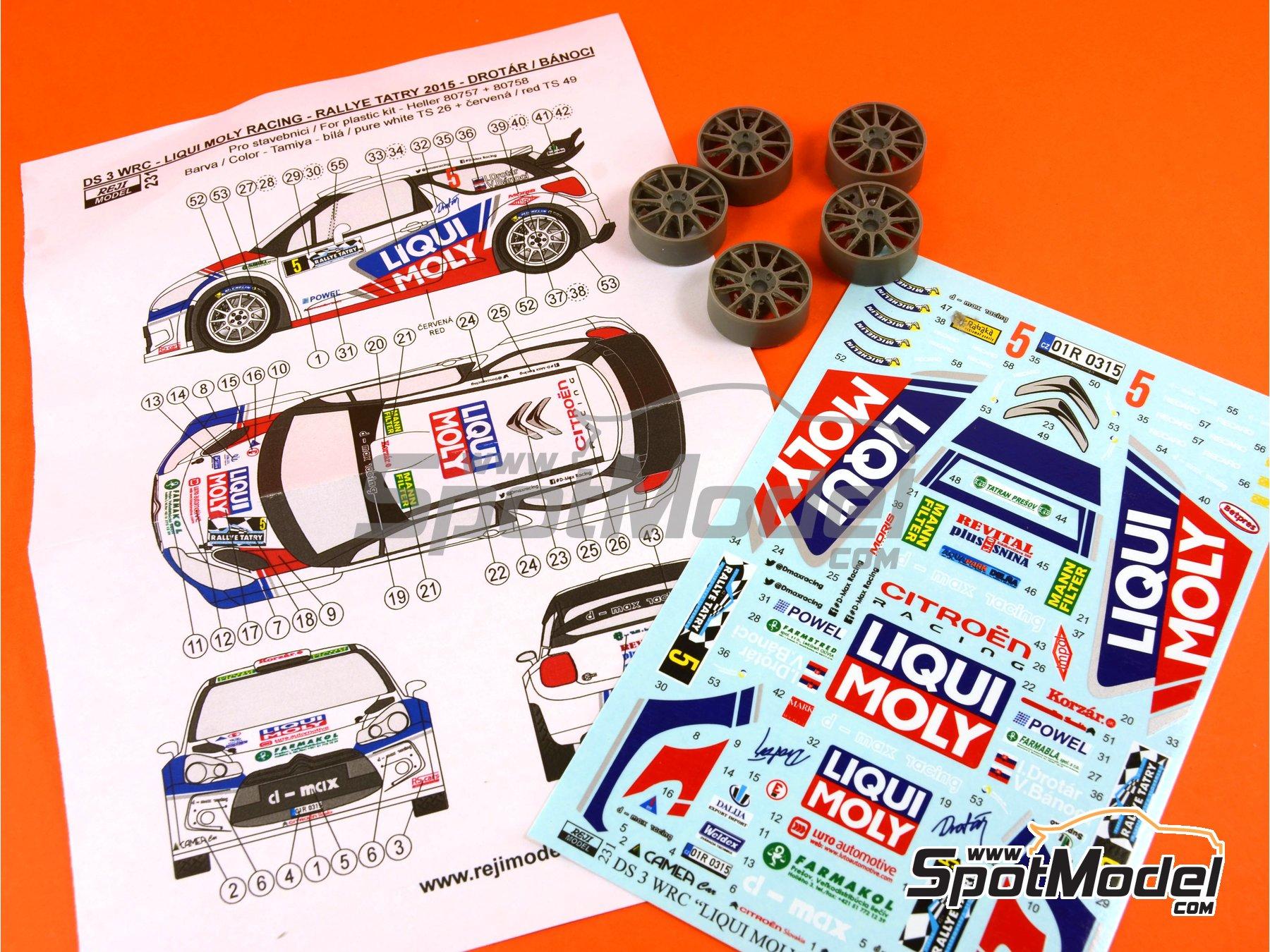 Image 7: Citroen DS3 WRC Liqui Moly - Tatry Rally 2015 | Transkit in 1/24 scale manufactured by Reji Model (ref.REJI-231)