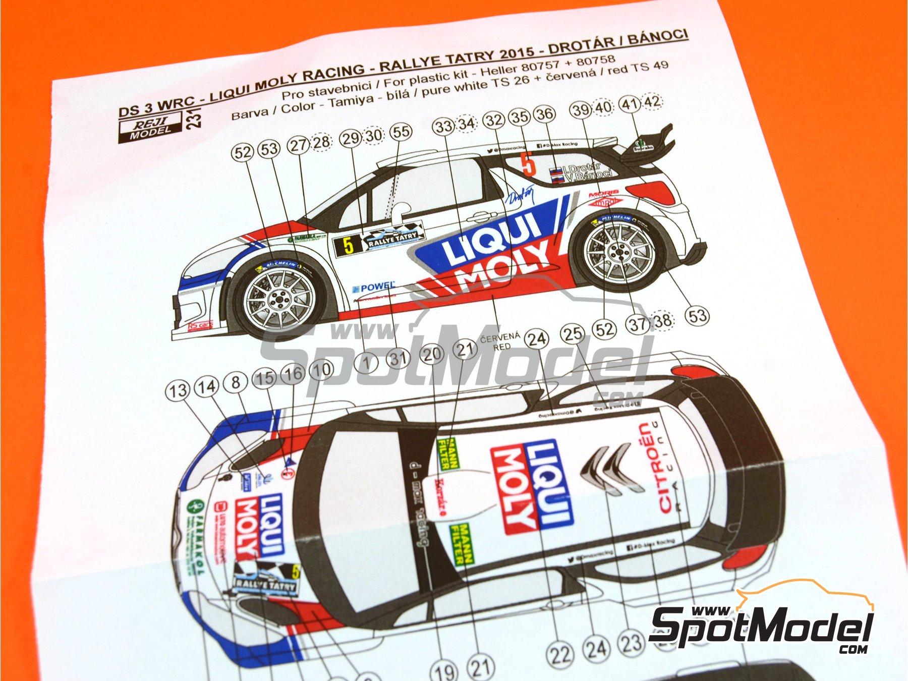 Image 8: Citroen DS3 WRC Liqui Moly - Tatry Rally 2015 | Transkit in 1/24 scale manufactured by Reji Model (ref.REJI-231)