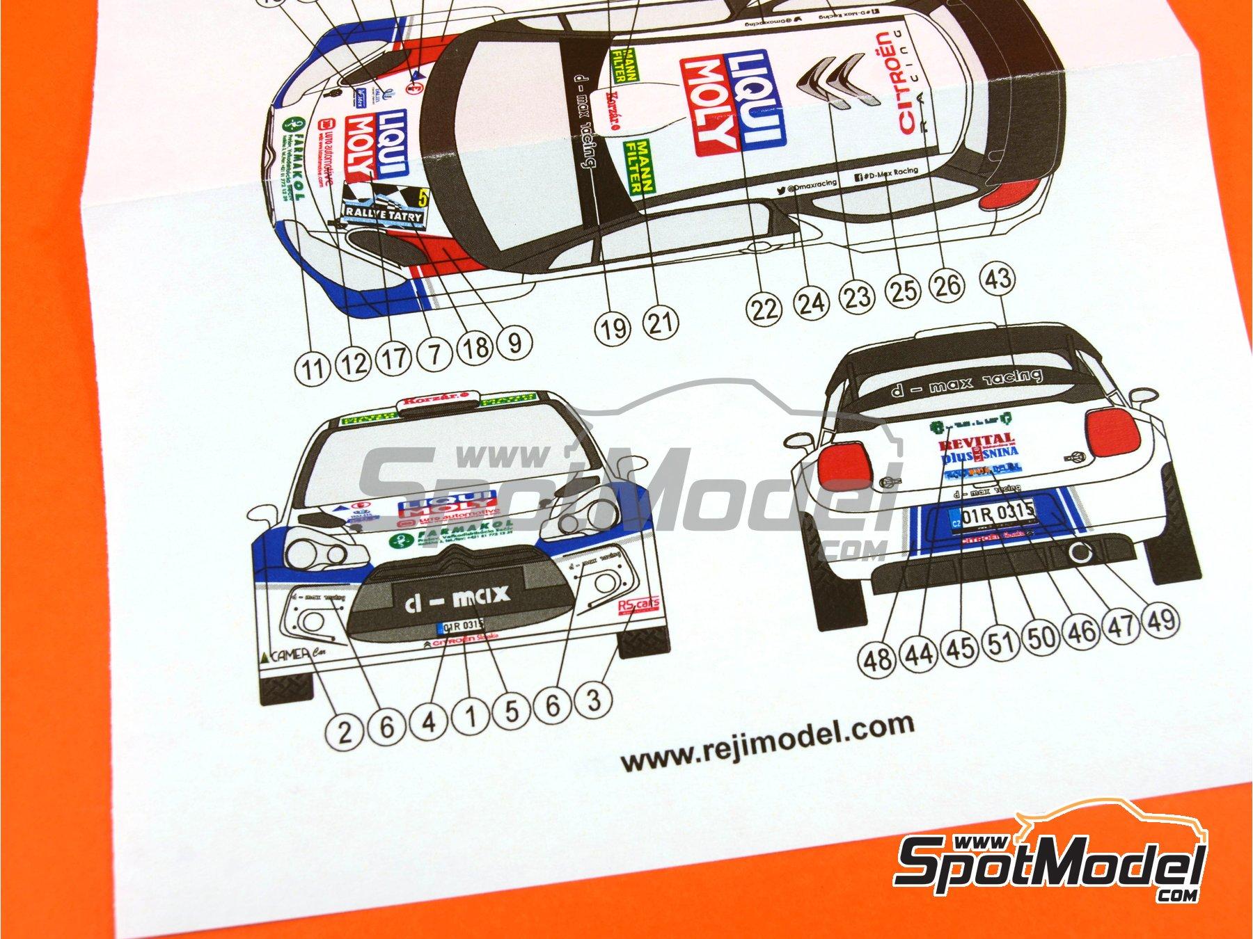 Image 9: Citroen DS3 WRC Liqui Moly - Tatry Rally 2015 | Transkit in 1/24 scale manufactured by Reji Model (ref.REJI-231)