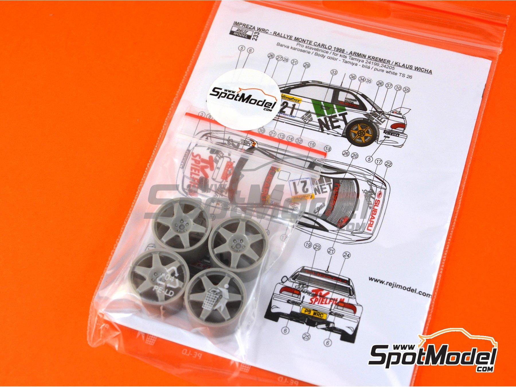 Image 1: Subaru Impreza WRC TV Spielfilm - Rally de Montecarlo 1998 | Decoración en escala1/24 fabricado por Reji Model (ref.REJI-233)