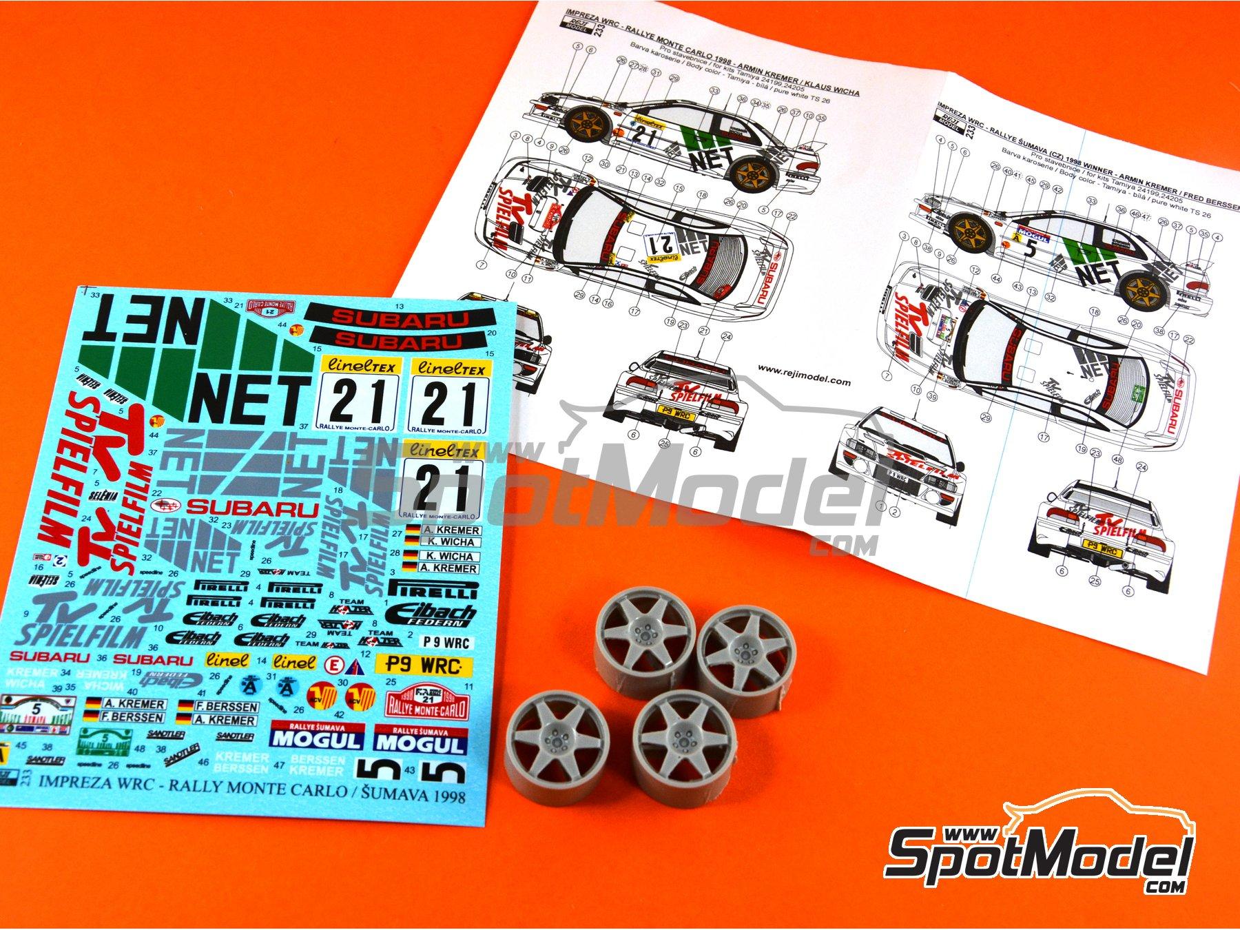 Image 2: Subaru Impreza WRC TV Spielfilm - Rally de Montecarlo 1998 | Decoración en escala1/24 fabricado por Reji Model (ref.REJI-233)