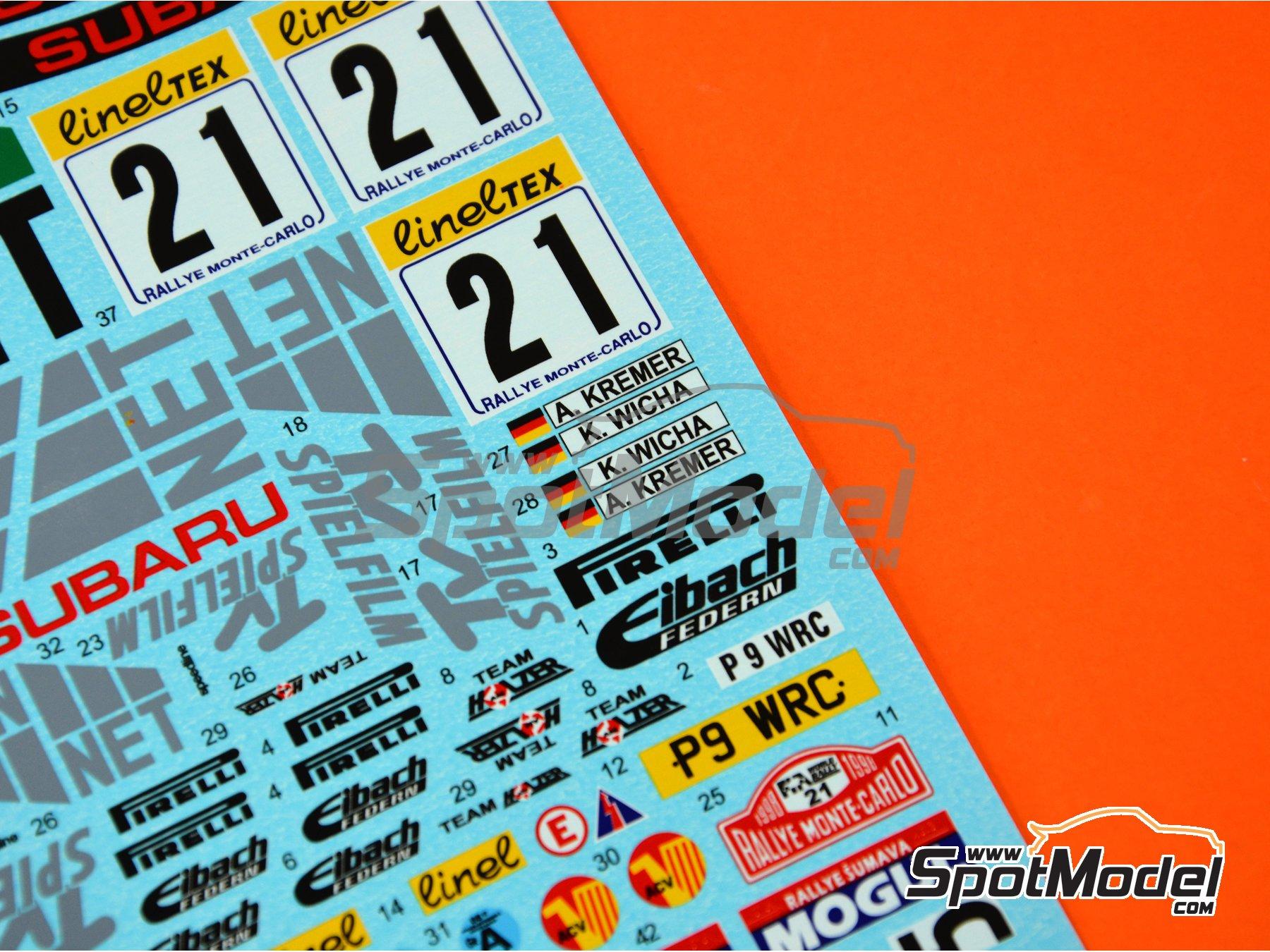 Image 3: Subaru Impreza WRC TV Spielfilm - Rally de Montecarlo 1998 | Decoración en escala1/24 fabricado por Reji Model (ref.REJI-233)