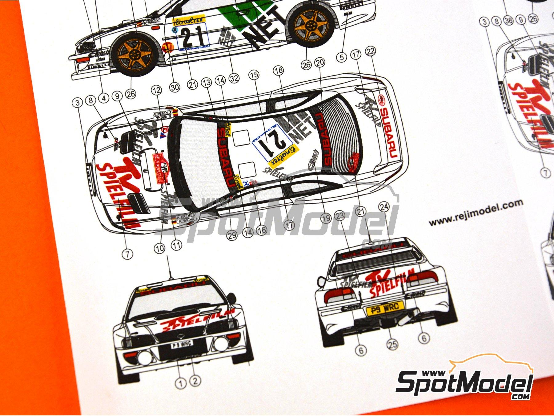 Image 11: Subaru Impreza WRC TV Spielfilm - Rally de Montecarlo 1998 | Decoración en escala1/24 fabricado por Reji Model (ref.REJI-233)