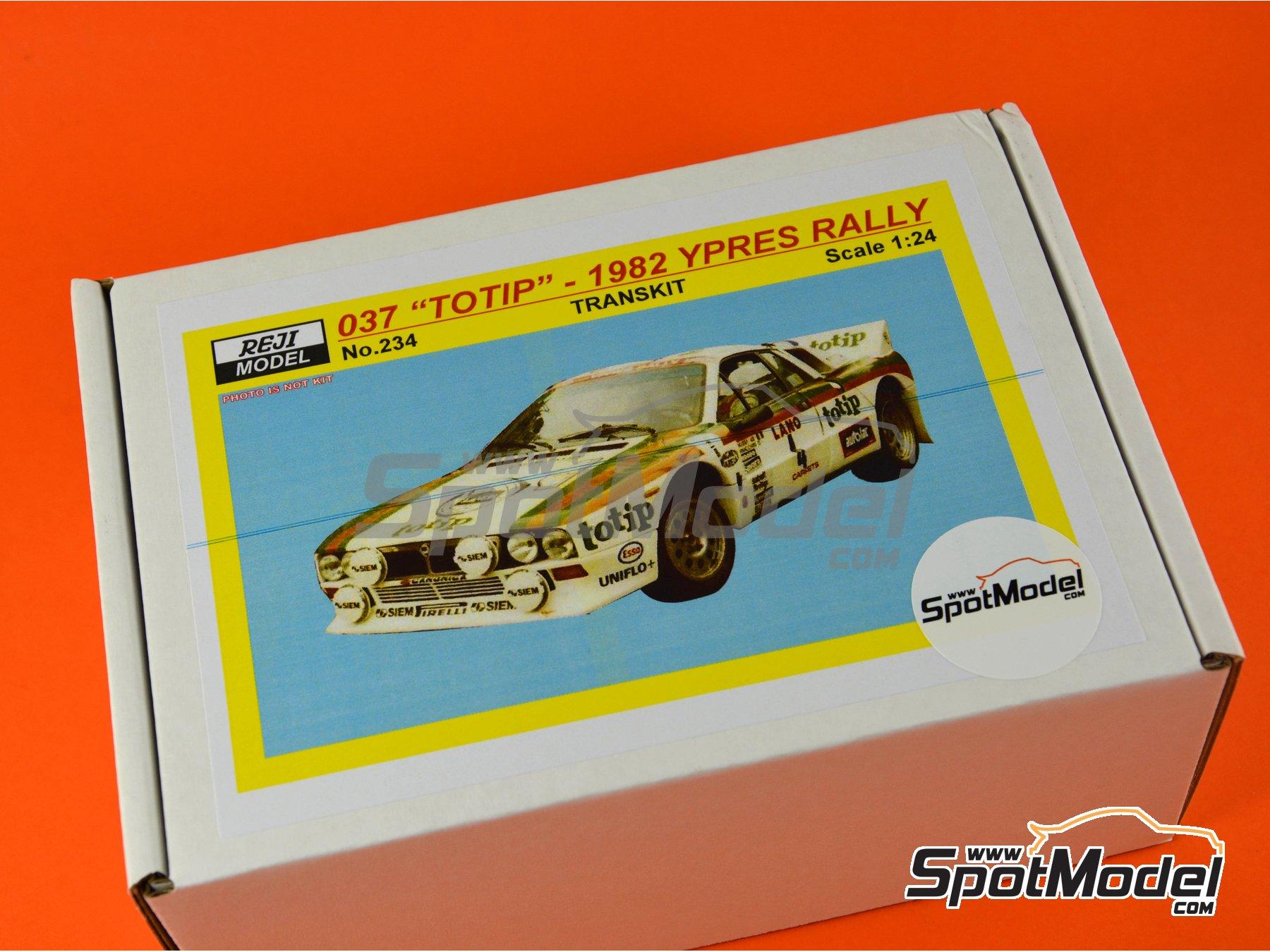 Image 3: Lancia 037 WRC Totip - Rally de Ypres de Belgica 1982 | Decoración en escala1/24 fabricado por Reji Model (ref.REJI-234)