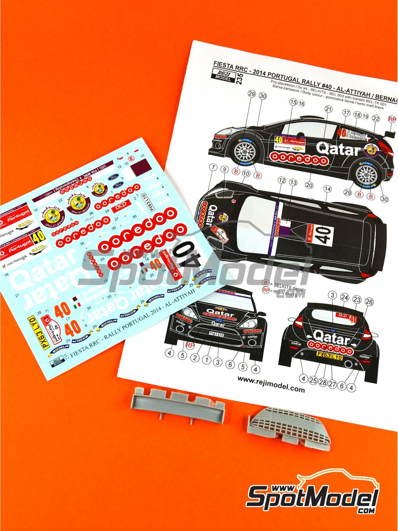 Ford Fiesta RRC Qatar - Portugal Rally 2014 | Marking / livery in 1/24 scale manufactured by Reji Model (ref. REJI-235) image
