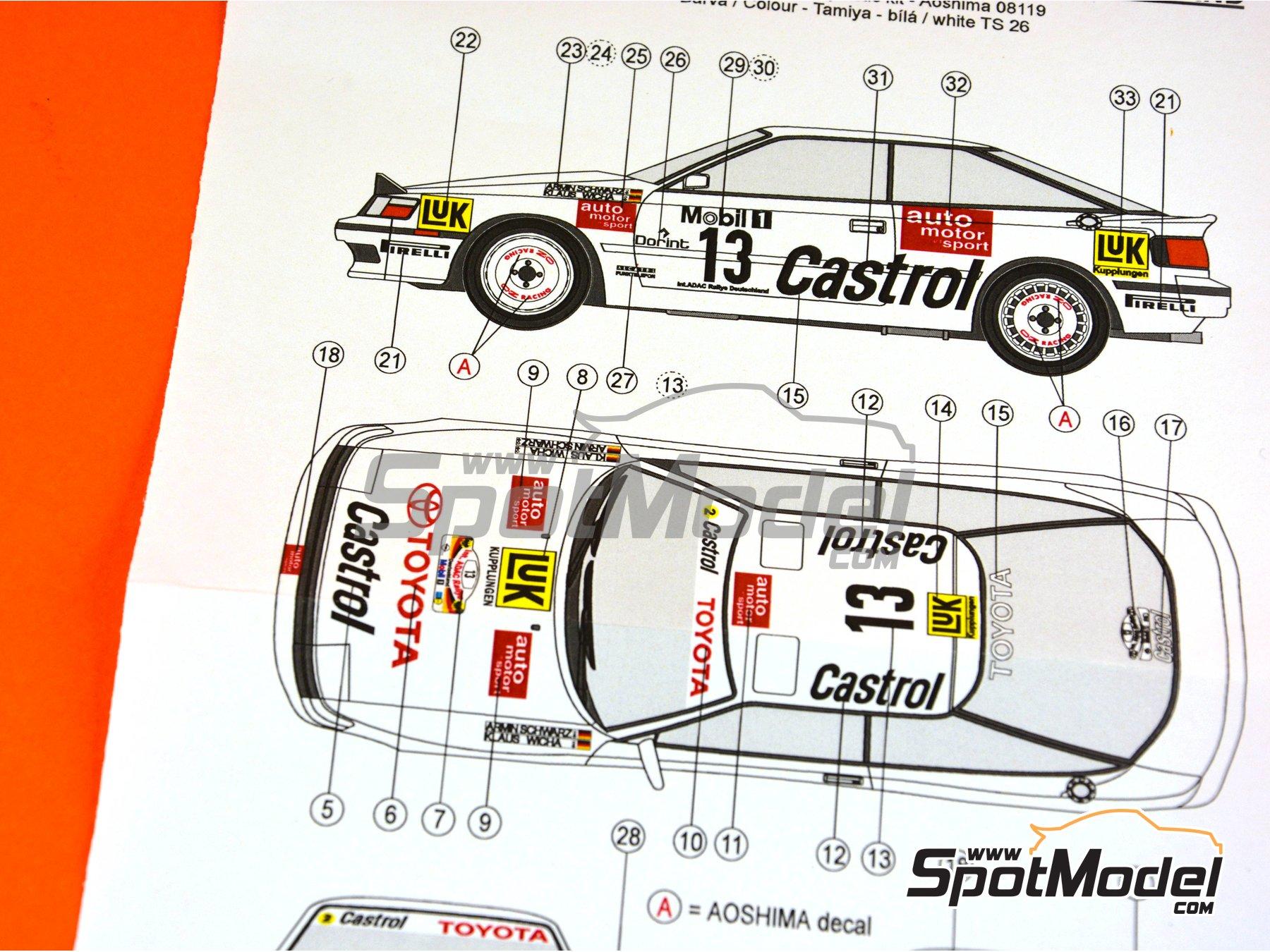 Image 7: Toyota Celica GT-Four ST165 Castrol - Rally de Alemania ADAC 1990 | Decoración en escala1/24 fabricado por Reji Model (ref.REJI-237)