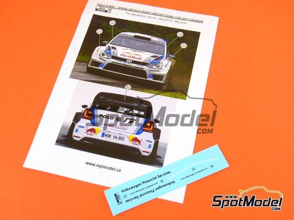 Image 1: Volkswagen Polo R WRC Volkswagen Financial Services - Alsace France Rally | Marking / livery in 1/24 scale manufactured by Reji Model (ref. REJI-238)