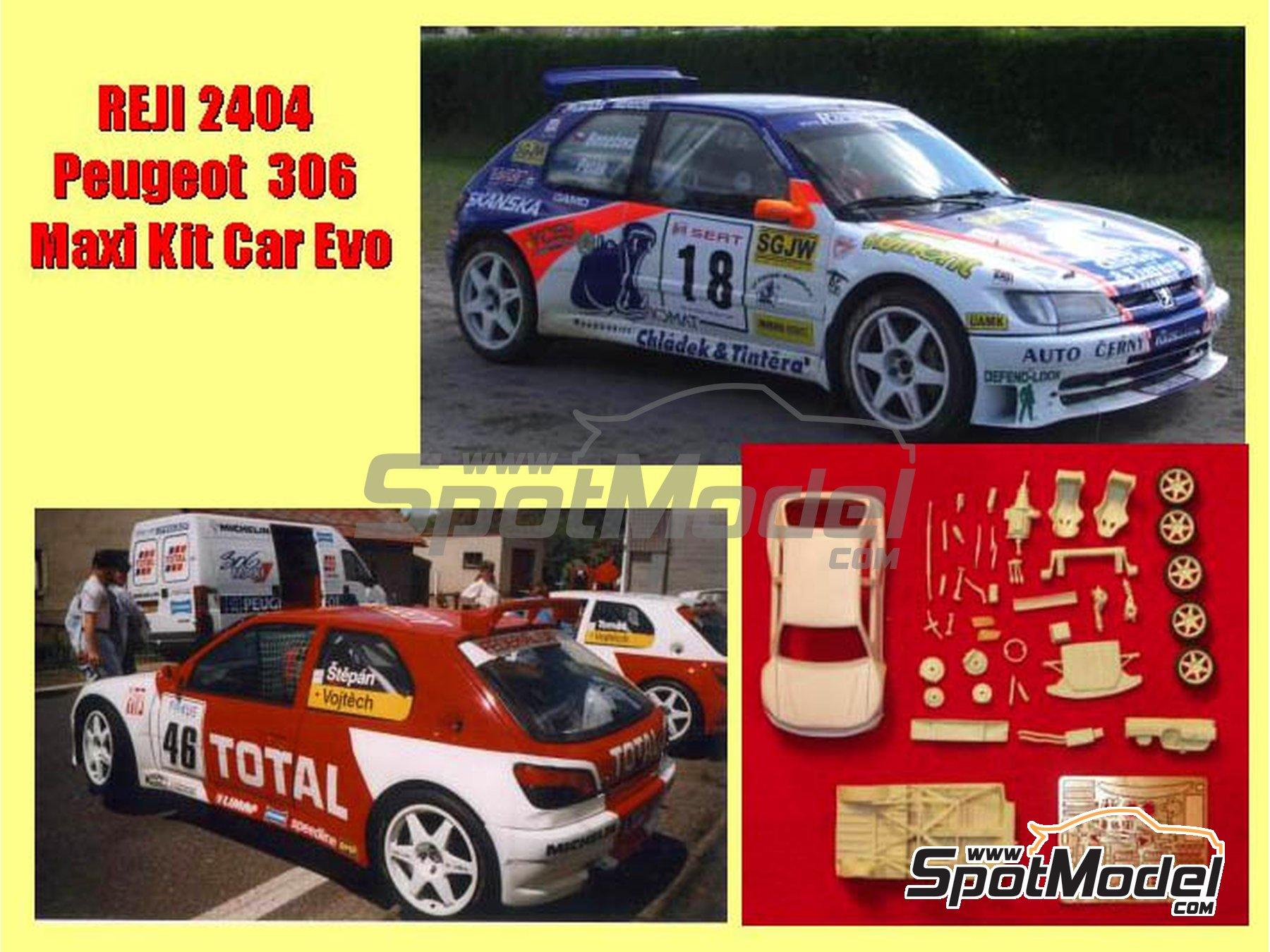 Image 2: Peugeot 306 Maxi Kit Car Evo Total - Rally Barum de la Republica Checa 2004 | Maqueta de coche en escala1/24 fabricado por Reji Model (ref.REJI-2404, tambien 2404)