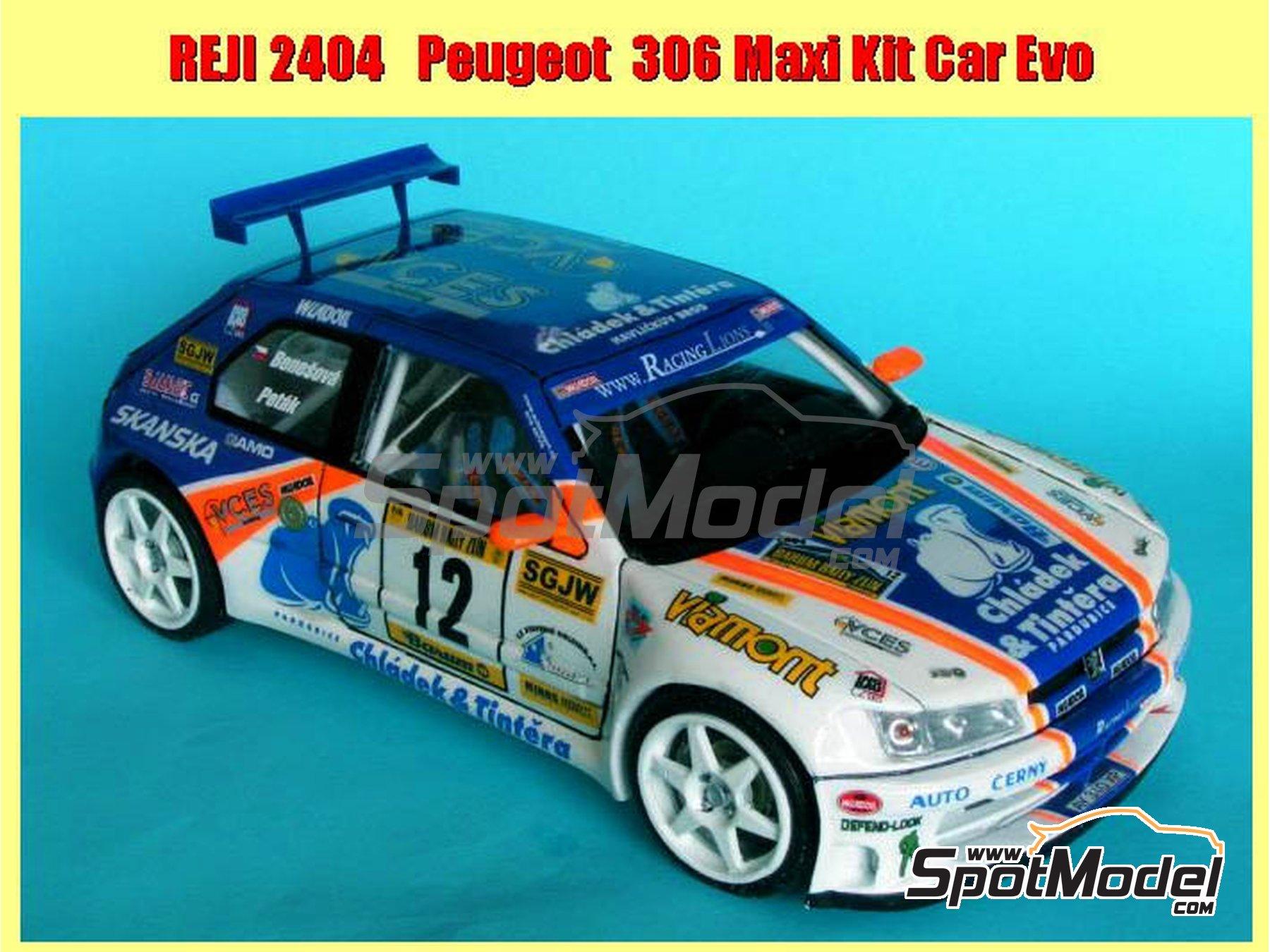 Image 3: Peugeot 306 Maxi Kit Car Evo Total - Rally Barum de la Republica Checa 2004 | Maqueta de coche en escala1/24 fabricado por Reji Model (ref.REJI-2404, tambien 2404)