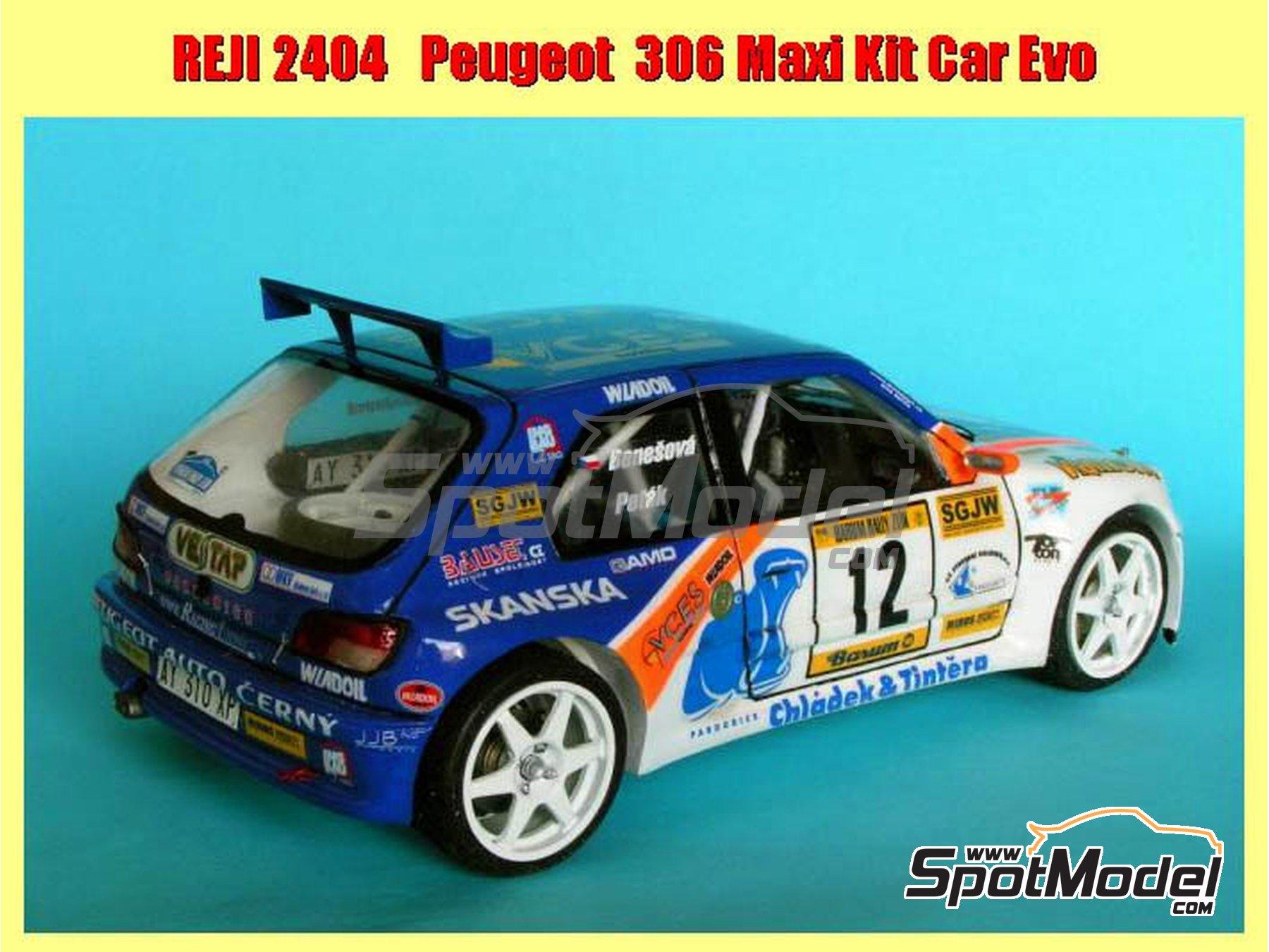 Image 4: Peugeot 306 Maxi Kit Car Evo Total - Rally Barum de la Republica Checa 2004 | Maqueta de coche en escala1/24 fabricado por Reji Model (ref.REJI-2404, tambien 2404)