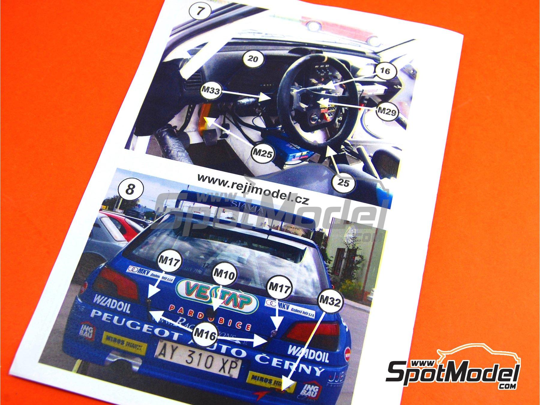 Image 27: Peugeot 306 Maxi Kit Car Evo Total - Rally Barum de la Republica Checa 2004 | Maqueta de coche en escala1/24 fabricado por Reji Model (ref.REJI-2404, tambien 2404)