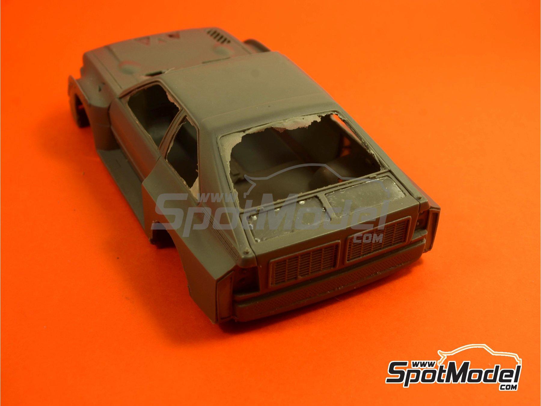 Image 3: Audi Quattro Sport S1 HB - Montecarlo Rally - Rallye Automobile de Monte-Carlo, Sanremo Rally 1985 and 1986   Model car kit in 1/24 scale manufactured by Reji Model (ref.REJI-2406, also 2406)
