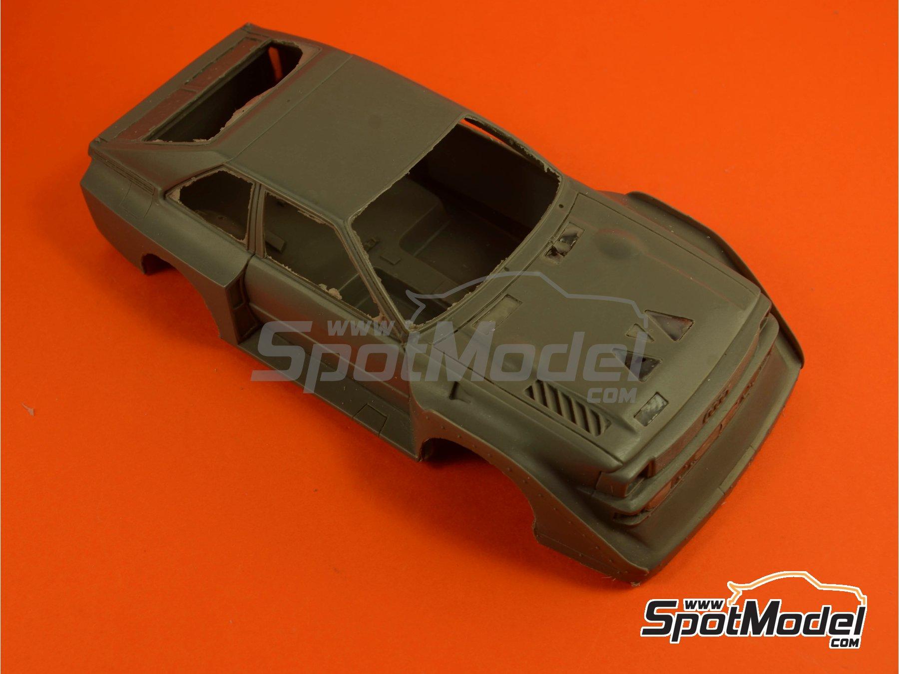 Image 5: Audi Quattro Sport S1 HB - Montecarlo Rally - Rallye Automobile de Monte-Carlo, Sanremo Rally 1985 and 1986   Model car kit in 1/24 scale manufactured by Reji Model (ref.REJI-2406, also 2406)