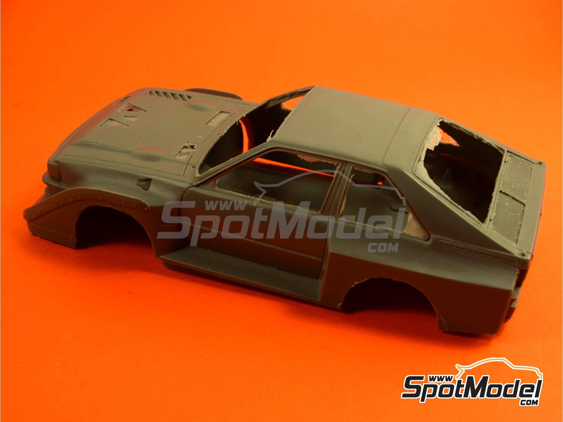 Image 6: Audi Quattro Sport S1 HB - Montecarlo Rally - Rallye Automobile de Monte-Carlo, Sanremo Rally 1985 and 1986   Model car kit in 1/24 scale manufactured by Reji Model (ref.REJI-2406, also 2406)