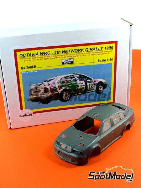 Skoda Octavia WRC Castrol - Great Britain RAC Rally 1999 | Model car kit in 1/24 scale manufactured by Reji Model (ref.REJI-2408B, also 2408B) image