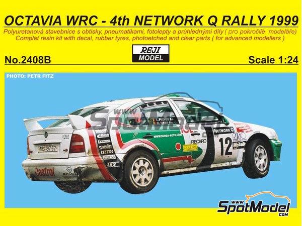 Image 1: Skoda Octavia WRC Castrol - Great Britain RAC Rally 1999 | Model car kit in 1/24 scale manufactured by Reji Model (ref.REJI-2408B, also 2408B)